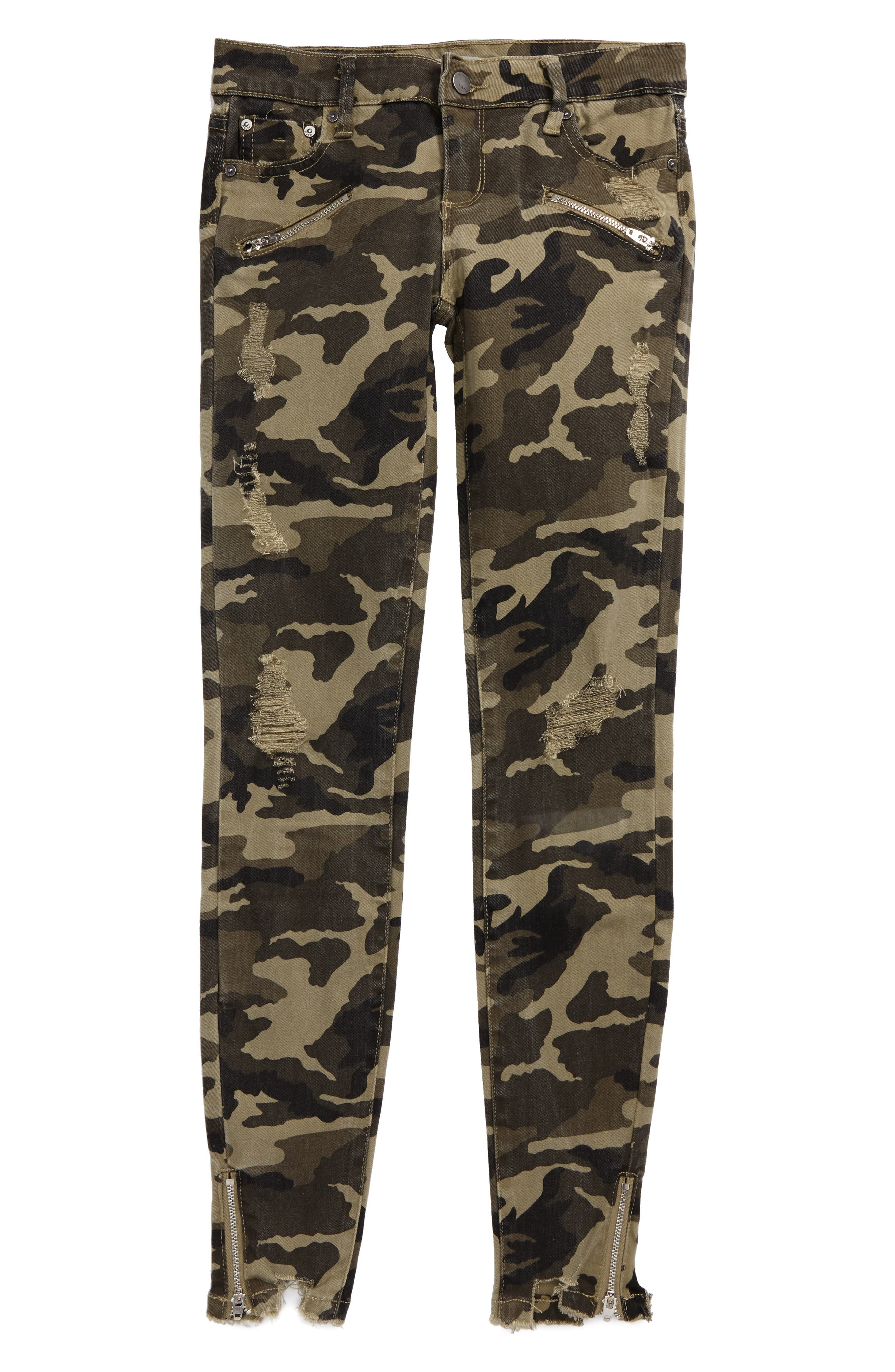 Camo Skinny Jeans,                         Main,                         color, Olive