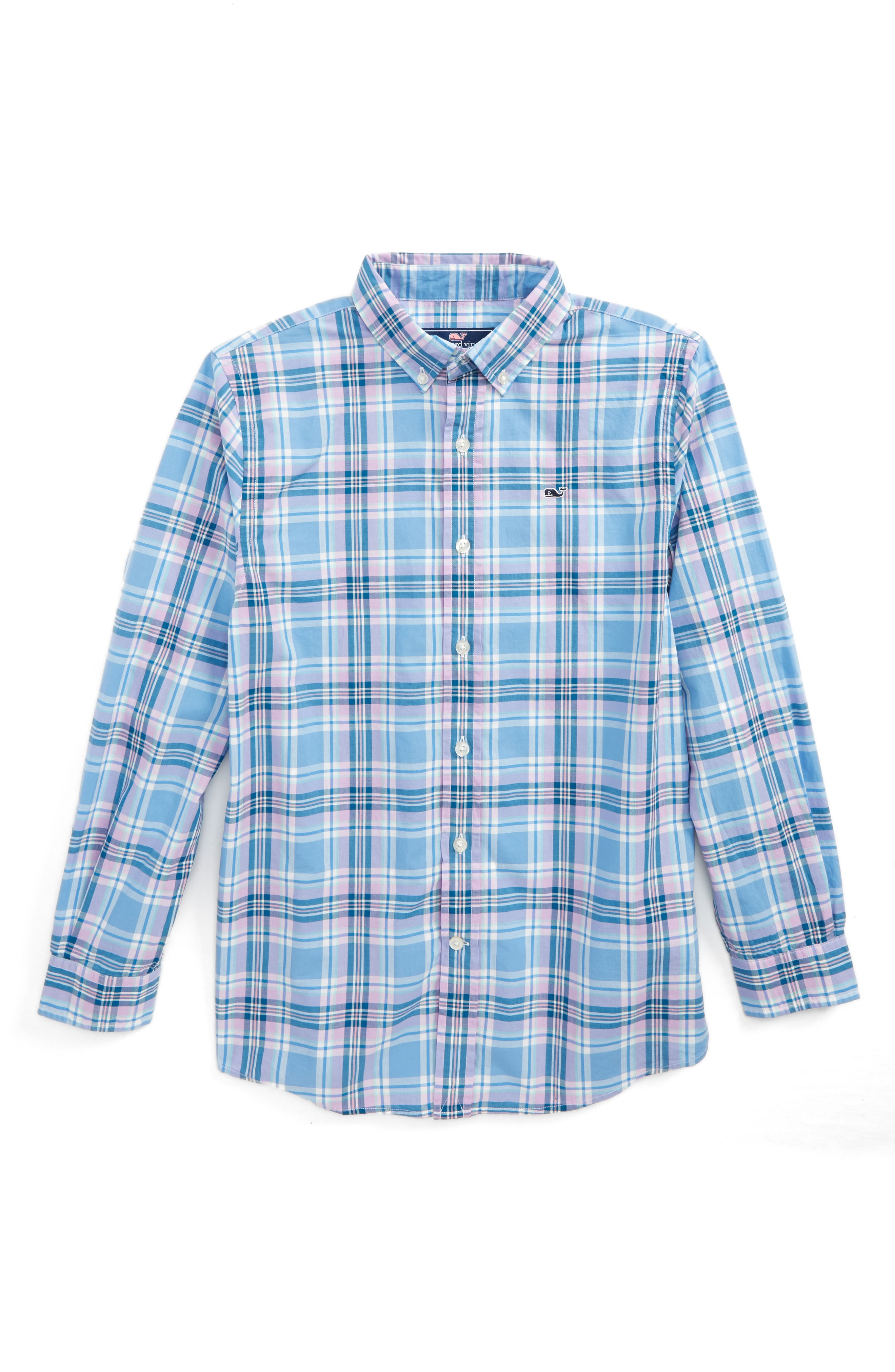 vineyard vines Ocean Walk Plaid Shirt (Big Boys)
