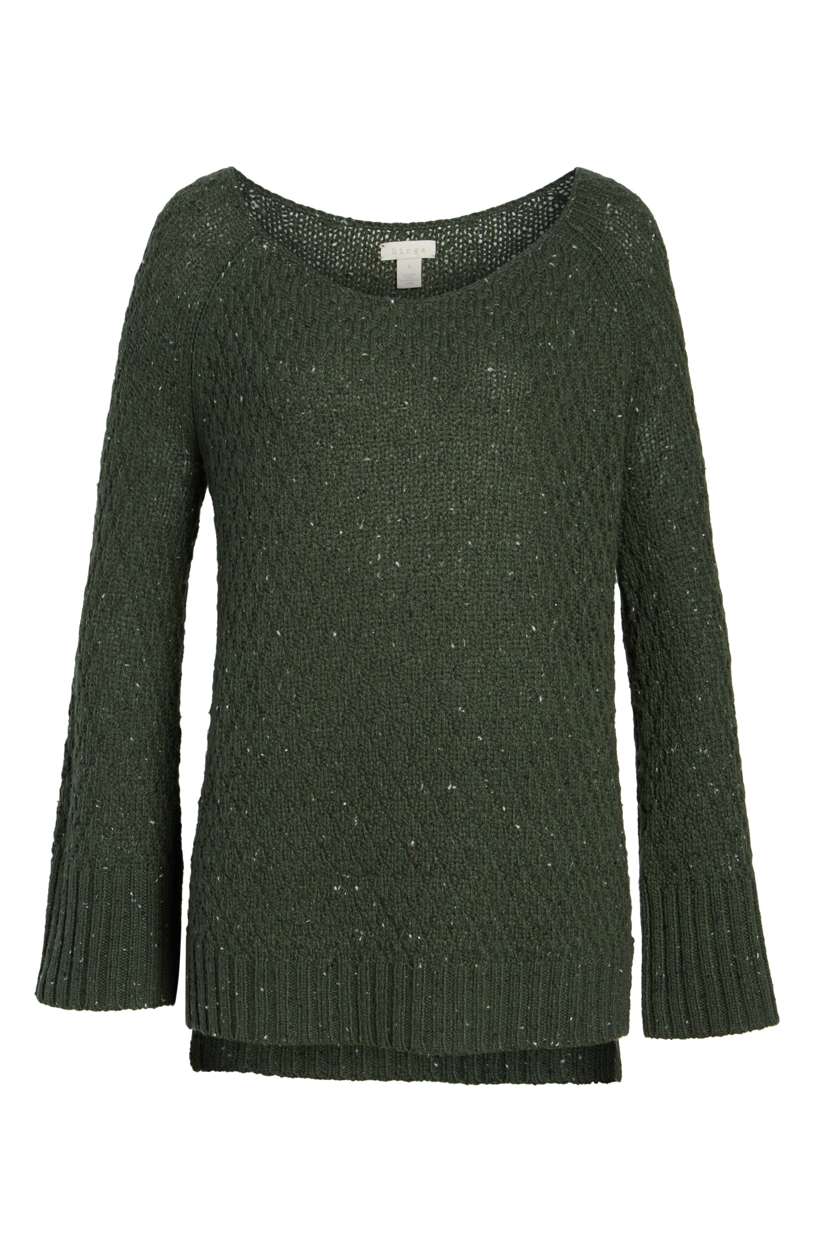Slouchy Tunic Sweater,                             Alternate thumbnail 6, color,                             Green Wood