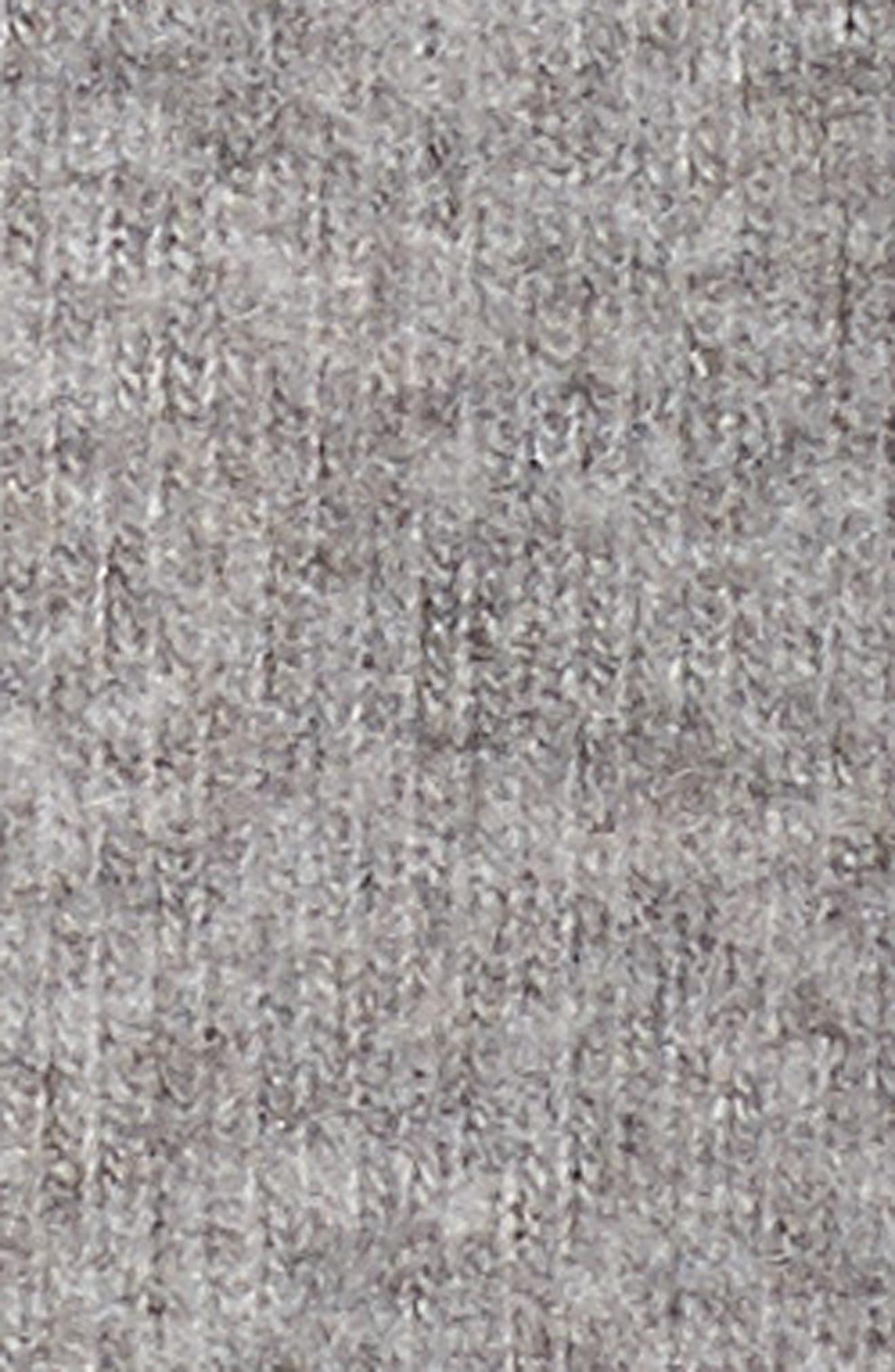 Drape Back Love Knit Sweatshirt,                             Alternate thumbnail 6, color,                             Heather Grey