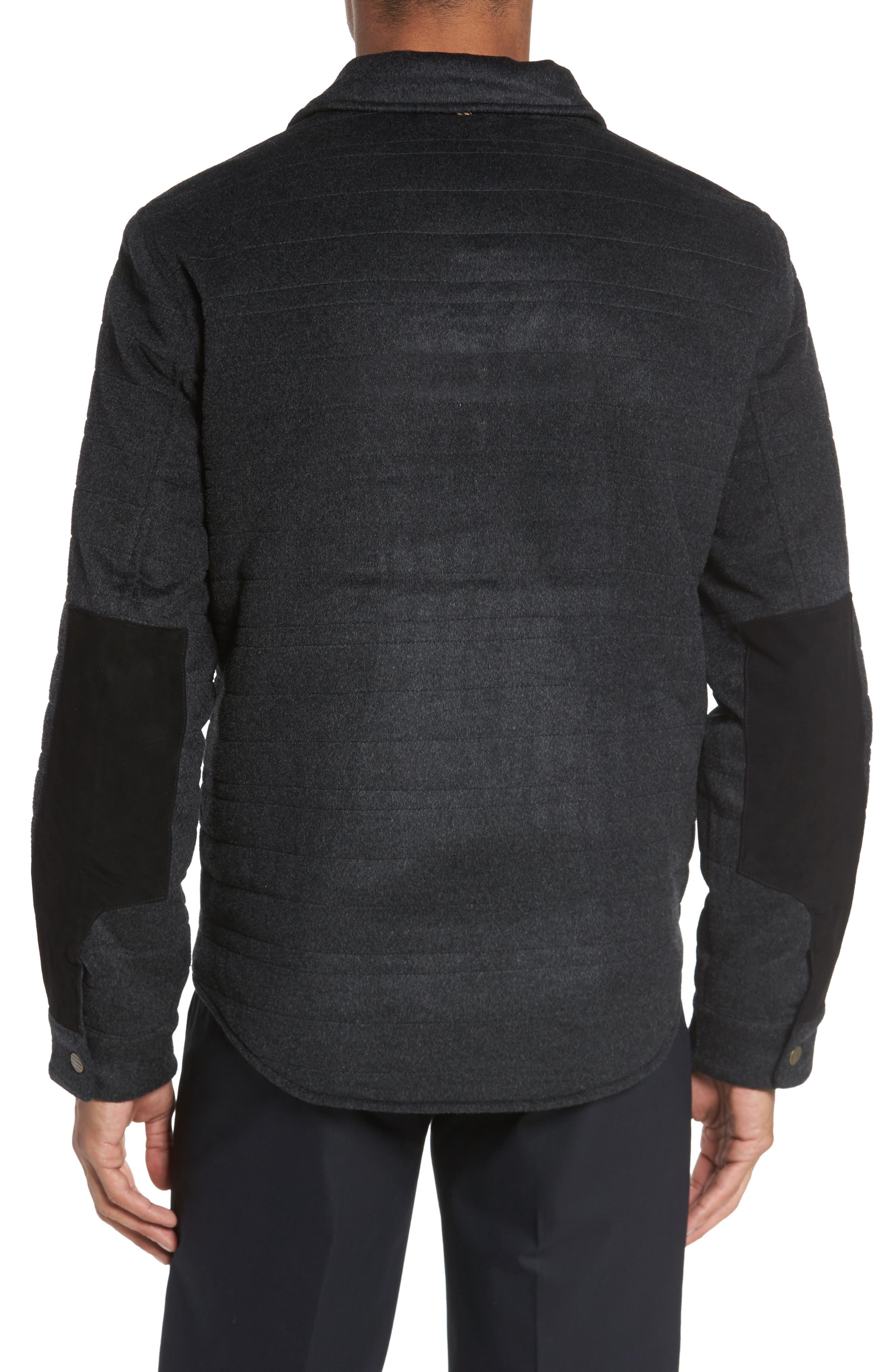 Michael Slim Fit Quilted Shirt Jacket,                             Alternate thumbnail 2, color,                             Dark Char Melange