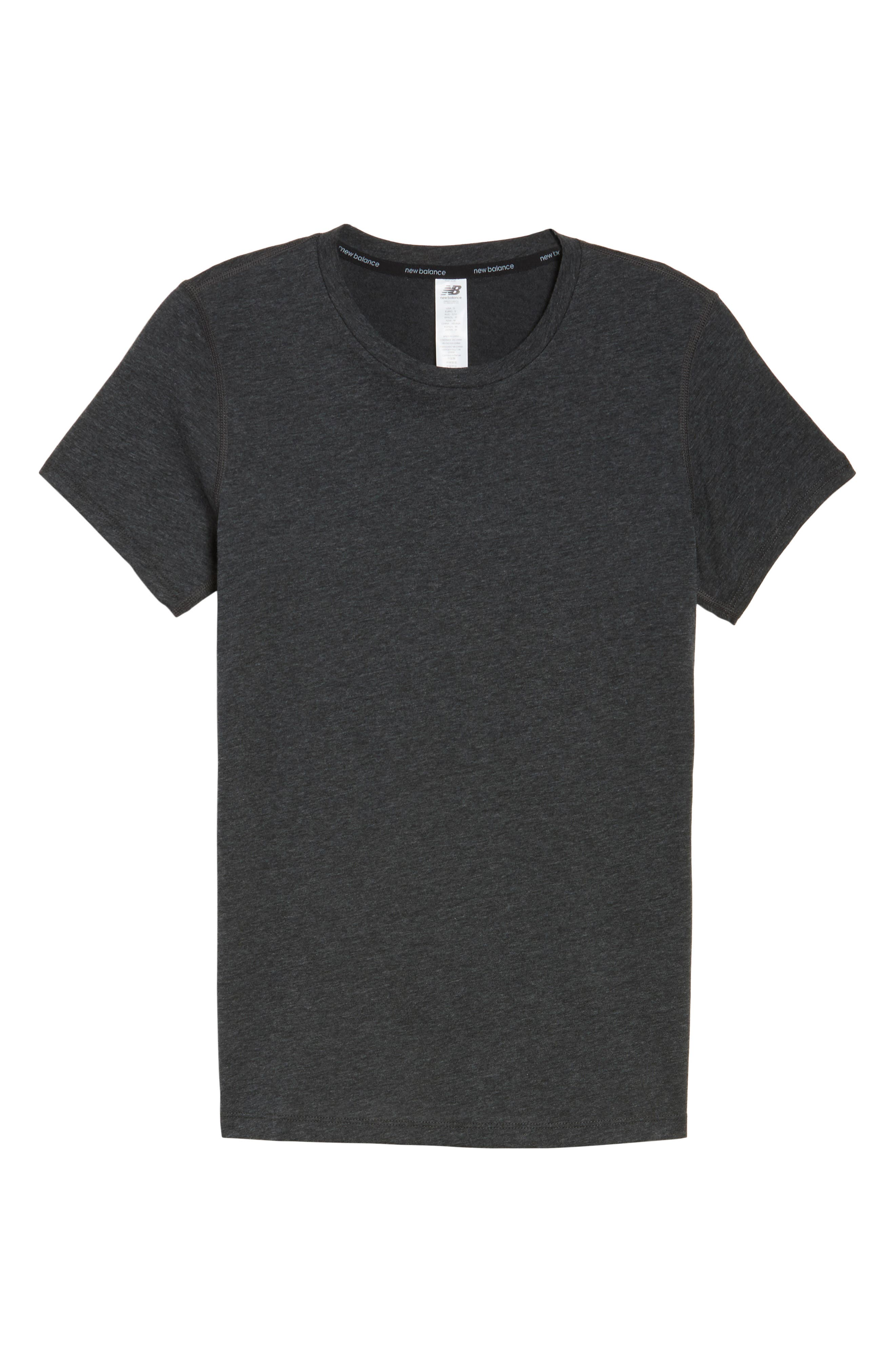 Heather Tech Tee,                             Alternate thumbnail 7, color,                             Black Heather