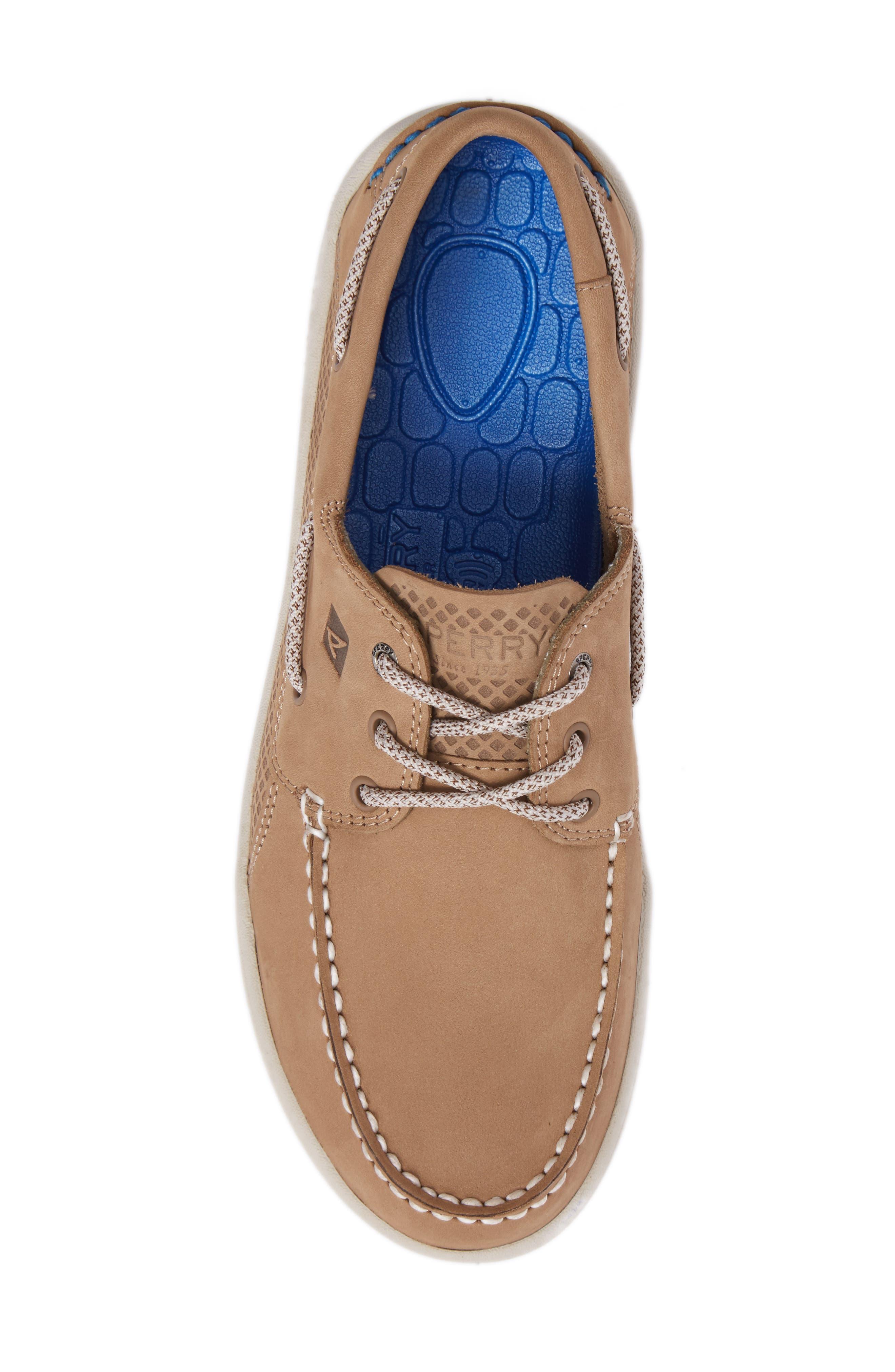 Gamefish Boat Shoe,                             Alternate thumbnail 5, color,                             Linen Leather