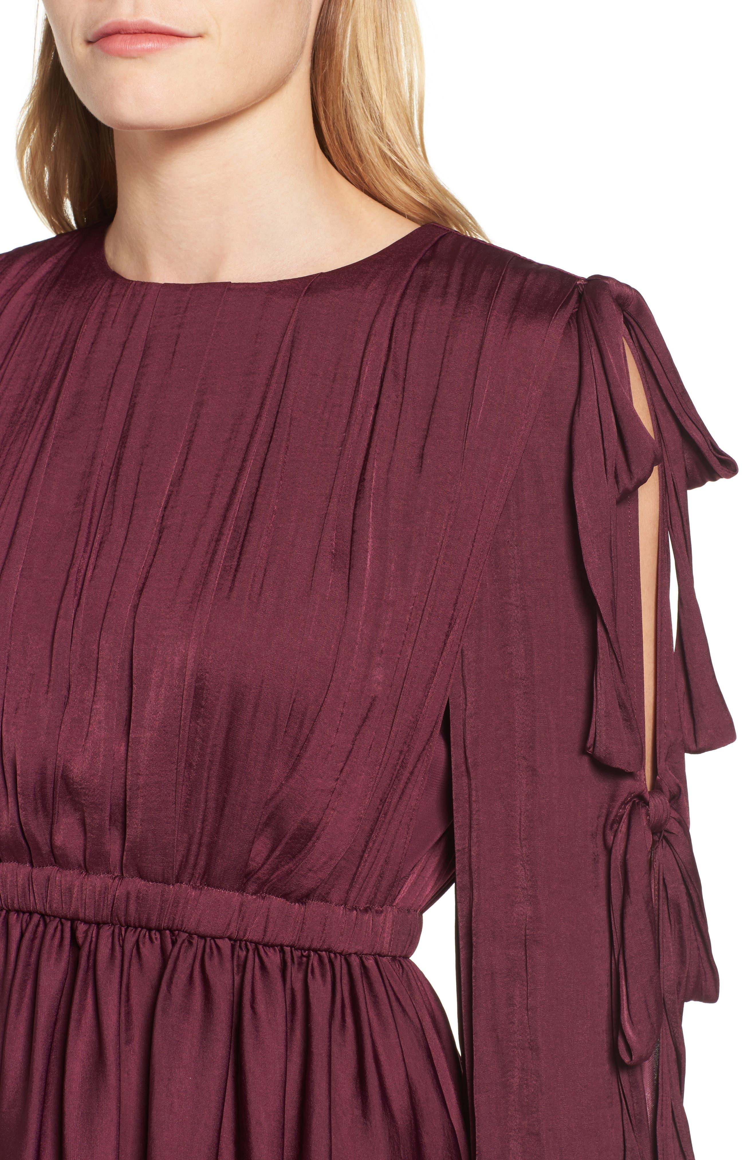 Mena Dress,                             Alternate thumbnail 4, color,                             Grape Wine