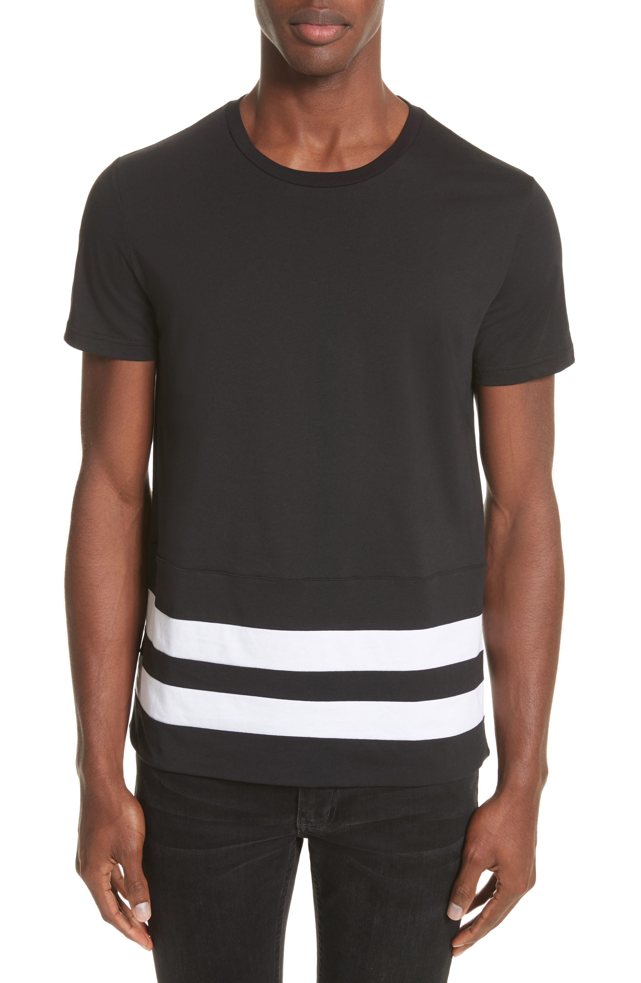 Burberry Radley Stripe Hem T-Shirt