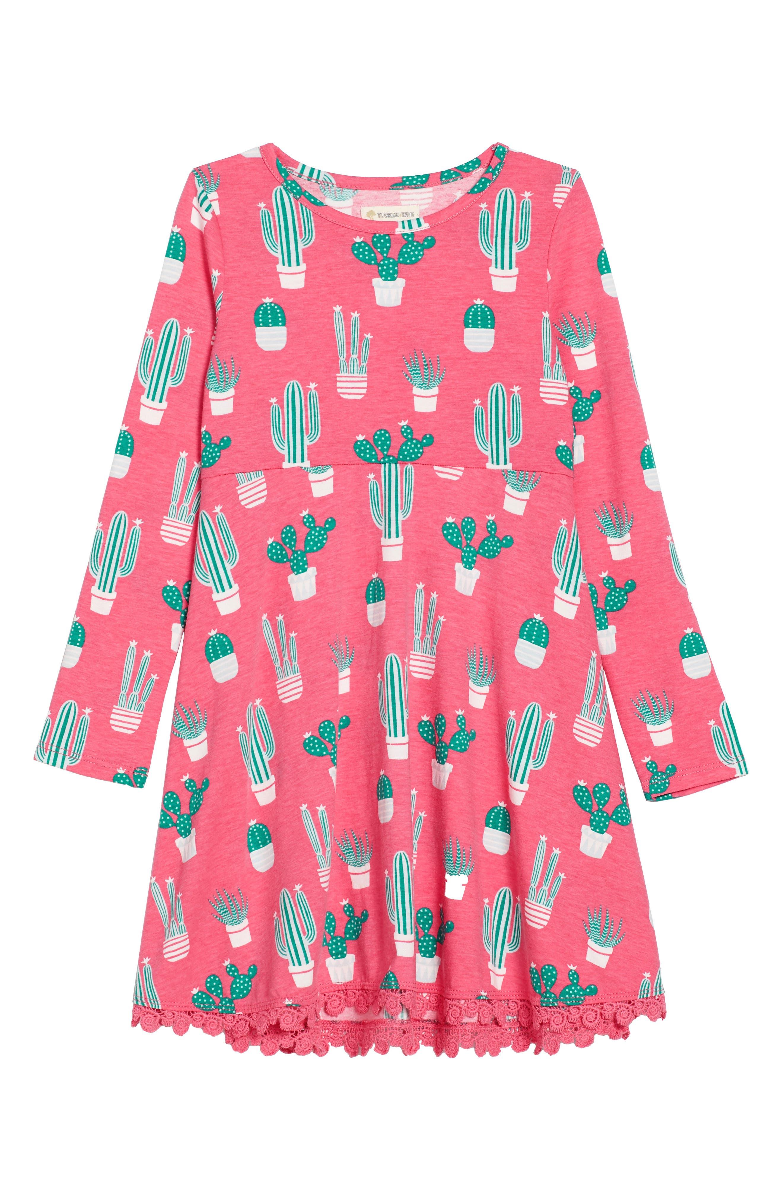 Alternate Image 1 Selected - Tucker + Tate Print Knit Dress (Toddler Girls, Little Girls & Big Girls)