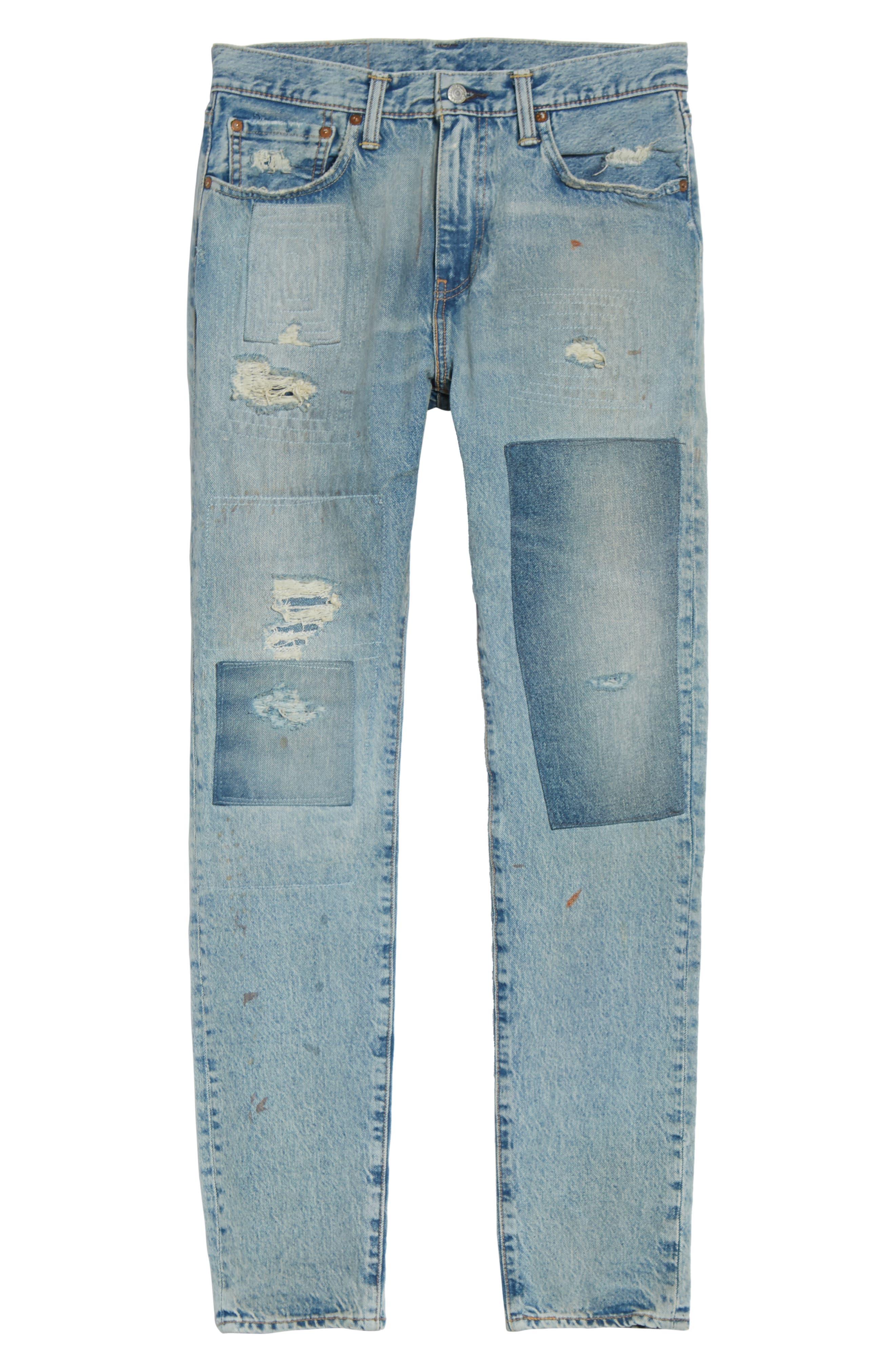 Alternate Image 6  - Levi's® 512 Slouchy Skinny Fit Jeans (Taku Warp)