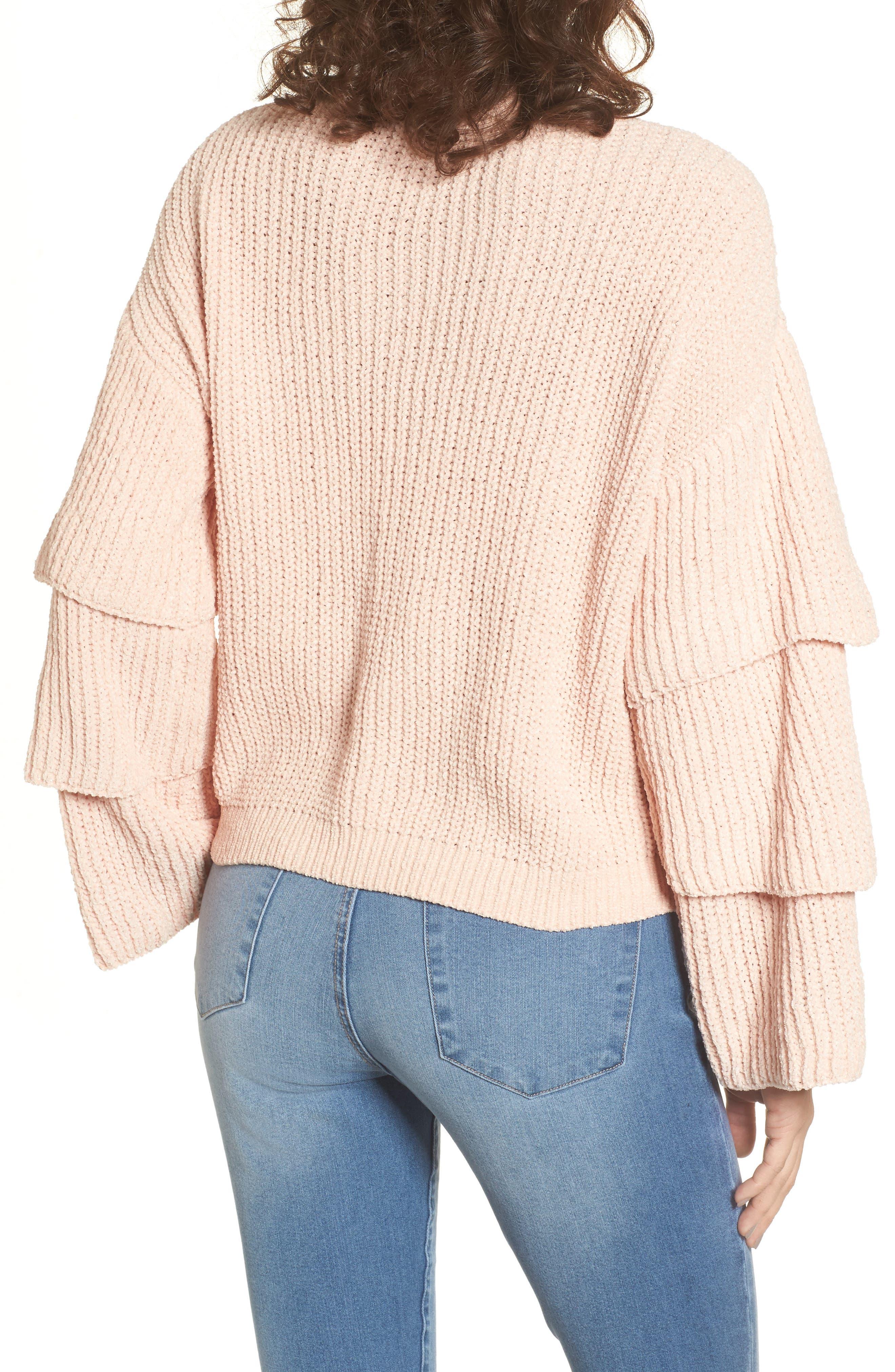 Alternate Image 2  - Woven Heart Triple Ruffle Sweater
