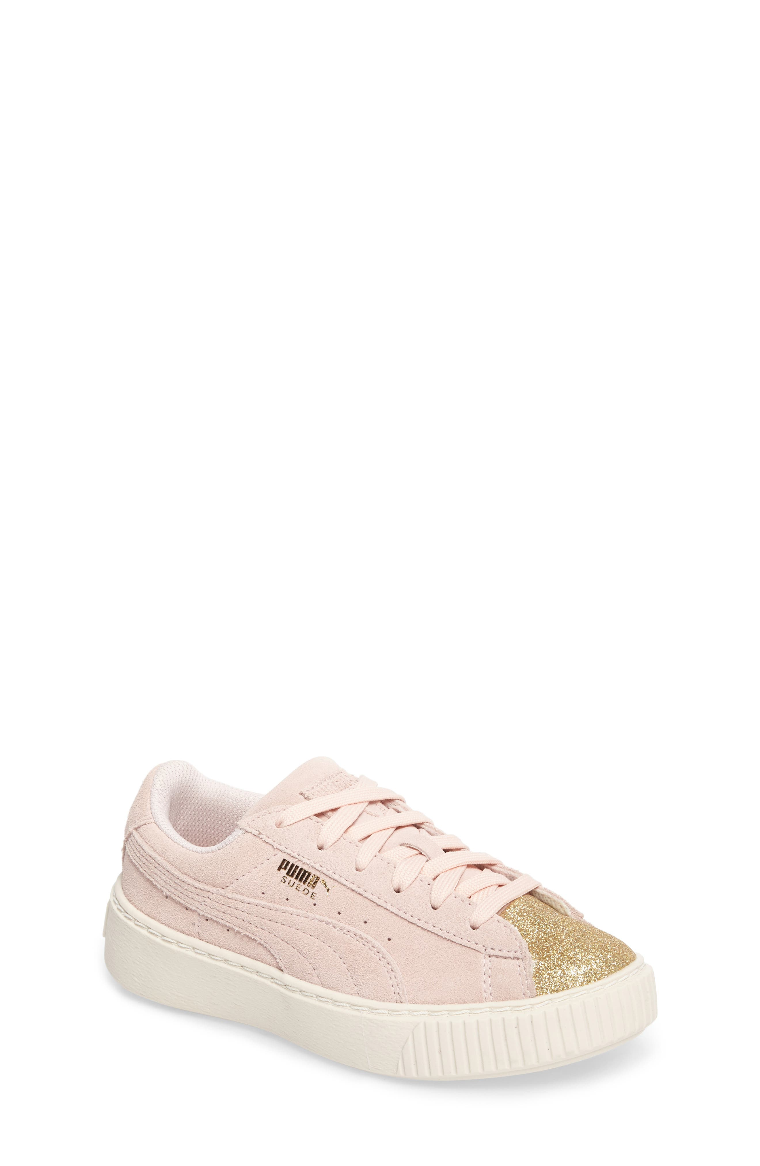 Alternate Image 1 Selected - PUMA Suede Platform Glam Sneaker (Toddler, Little Kid & Big Kid)