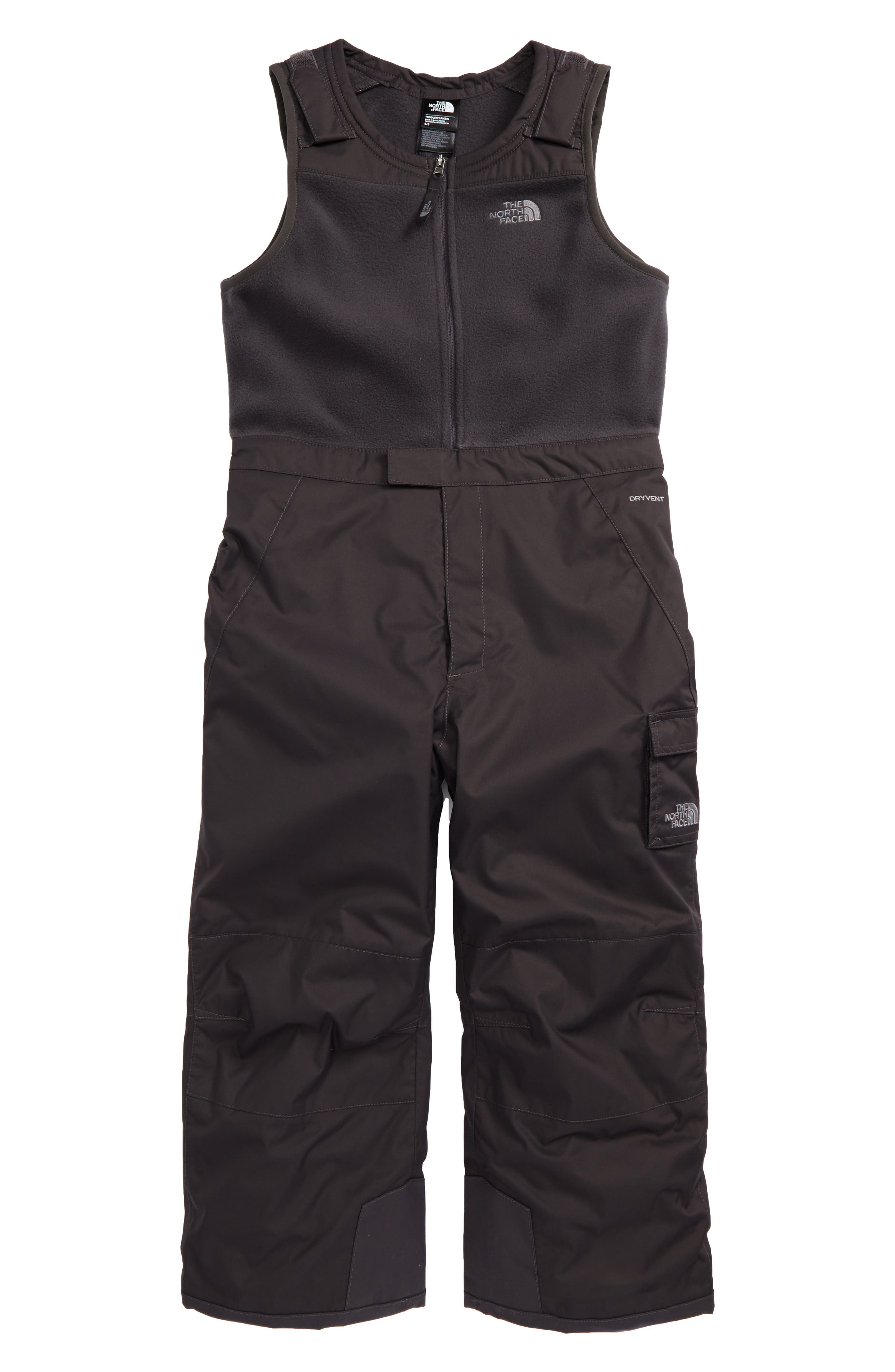 Main Image - The North Face Heekseeker™ Insulated Waterproof Bib Snowsuit (Toddler Boys & Little Boys)