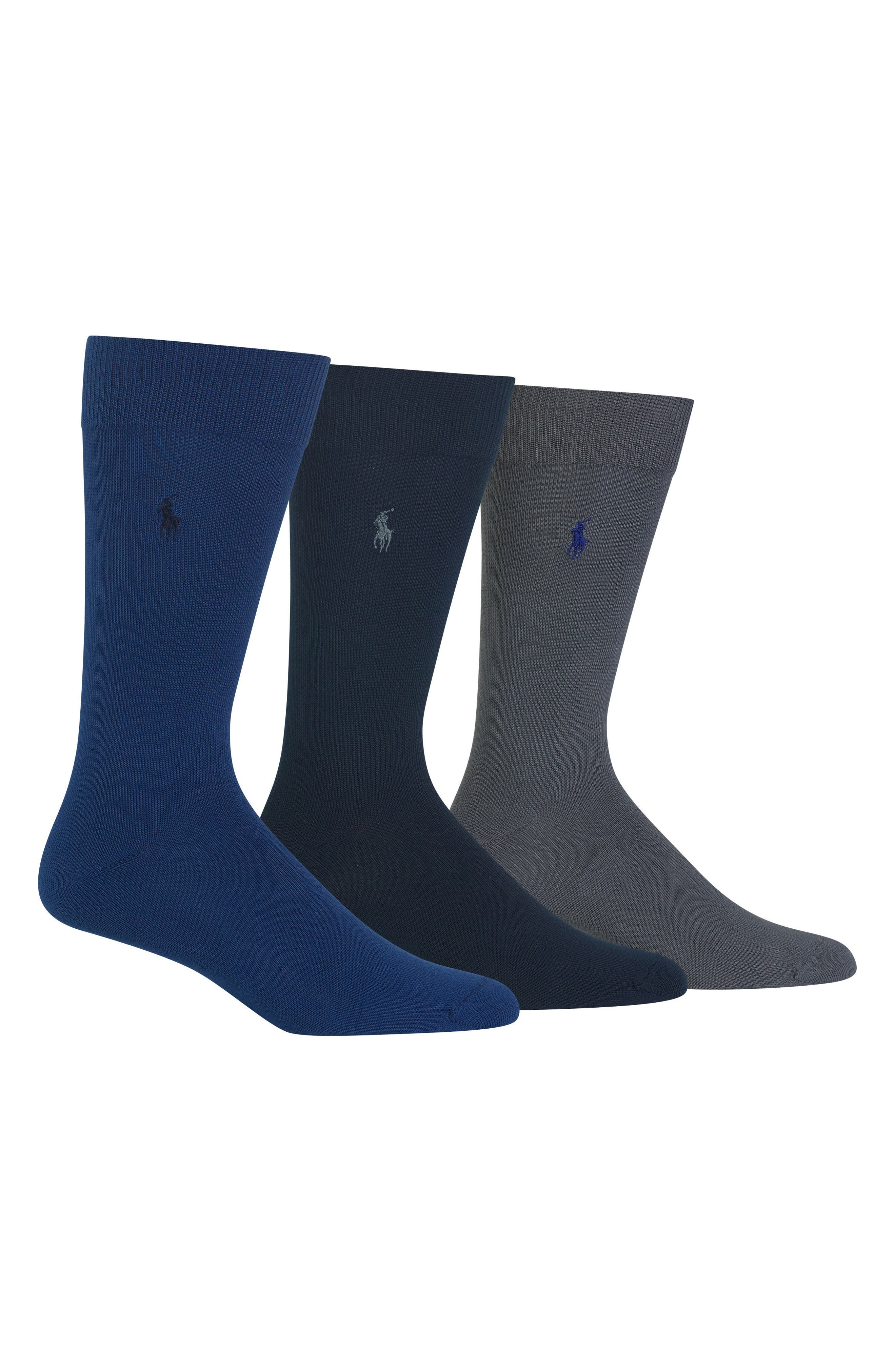 Polo Ralph Lauren Assorted 3-Pack Supersoft Socks