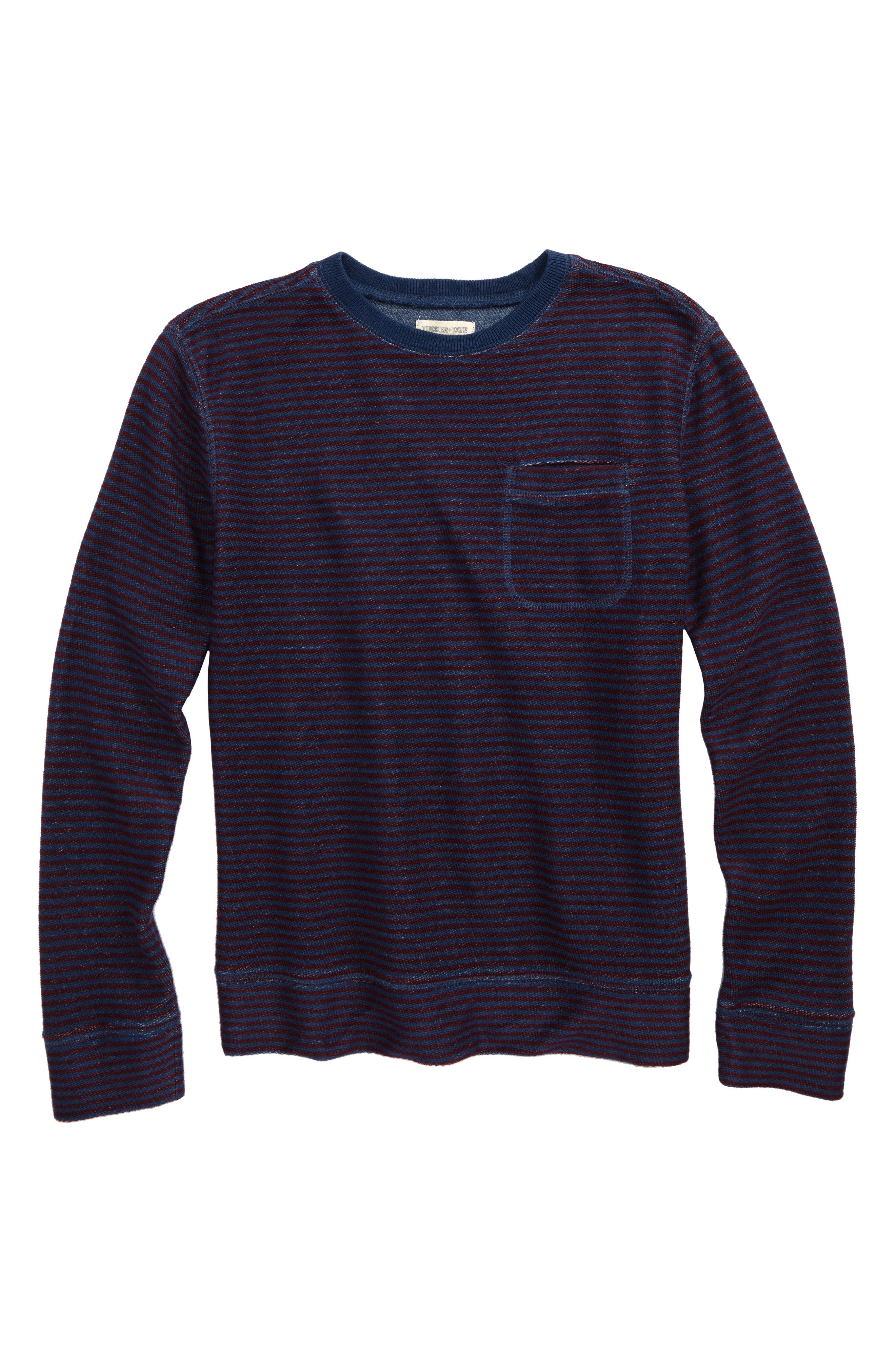 Alternate Image 1 Selected - Tucker + Tate Stripe Crewneck Sweatshirt (Big Boys)