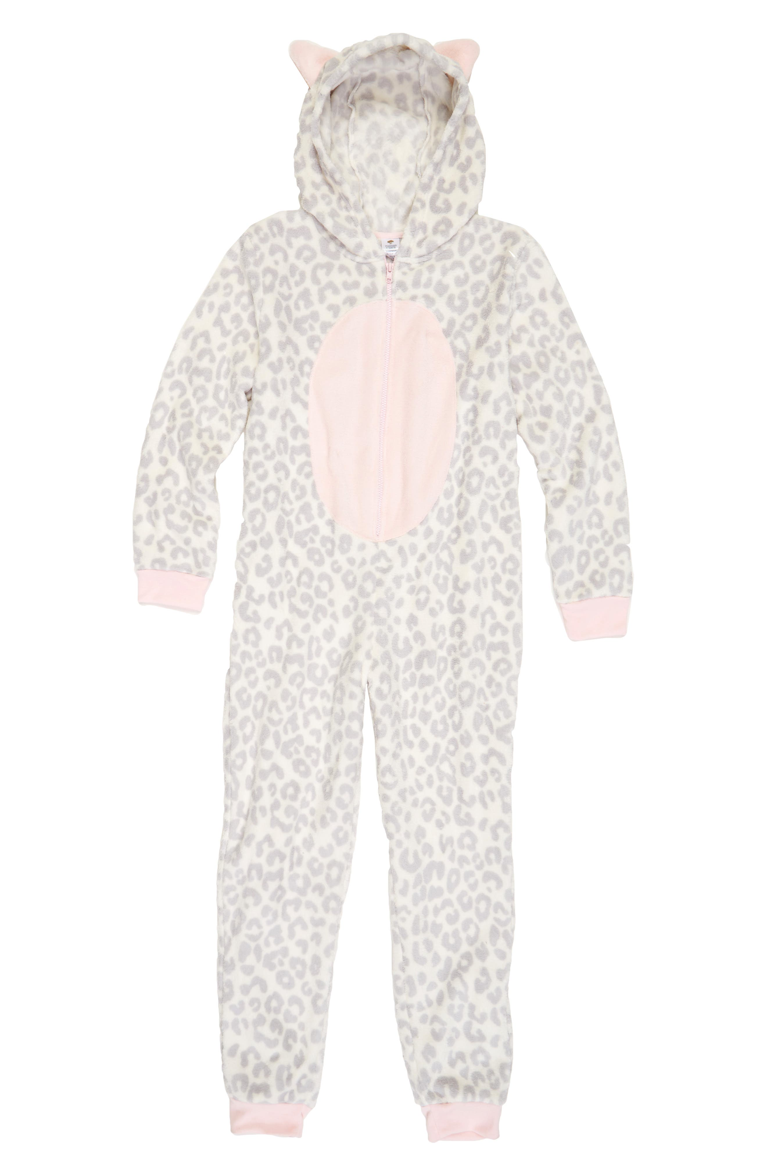 Tucker + Tate One-Piece Animal Pajamas (Little Girls & Big Girls)