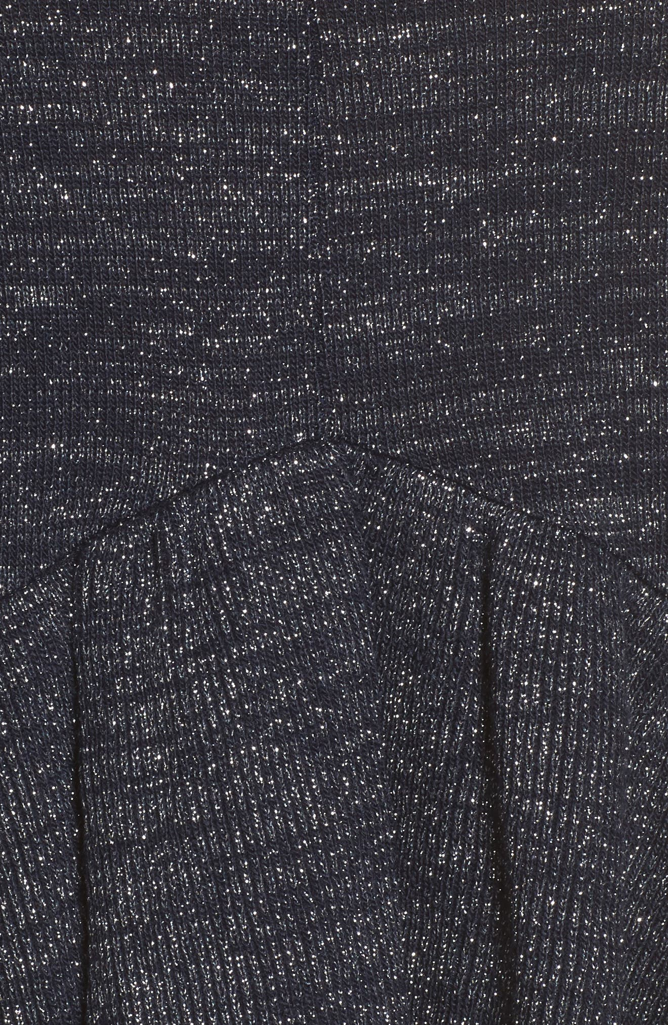 Ruffle Sweater,                             Alternate thumbnail 6, color,                             Navy