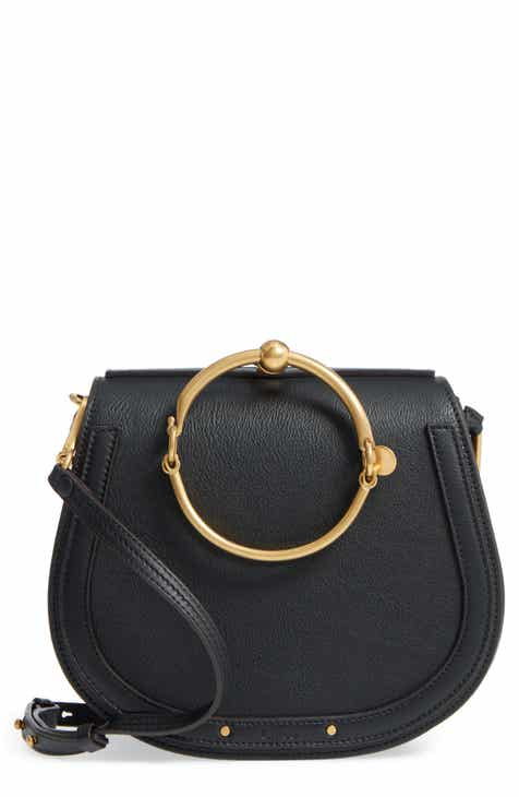 d13e3f92682b Chloé Medium Nile Leather Bracelet Saddle Bag