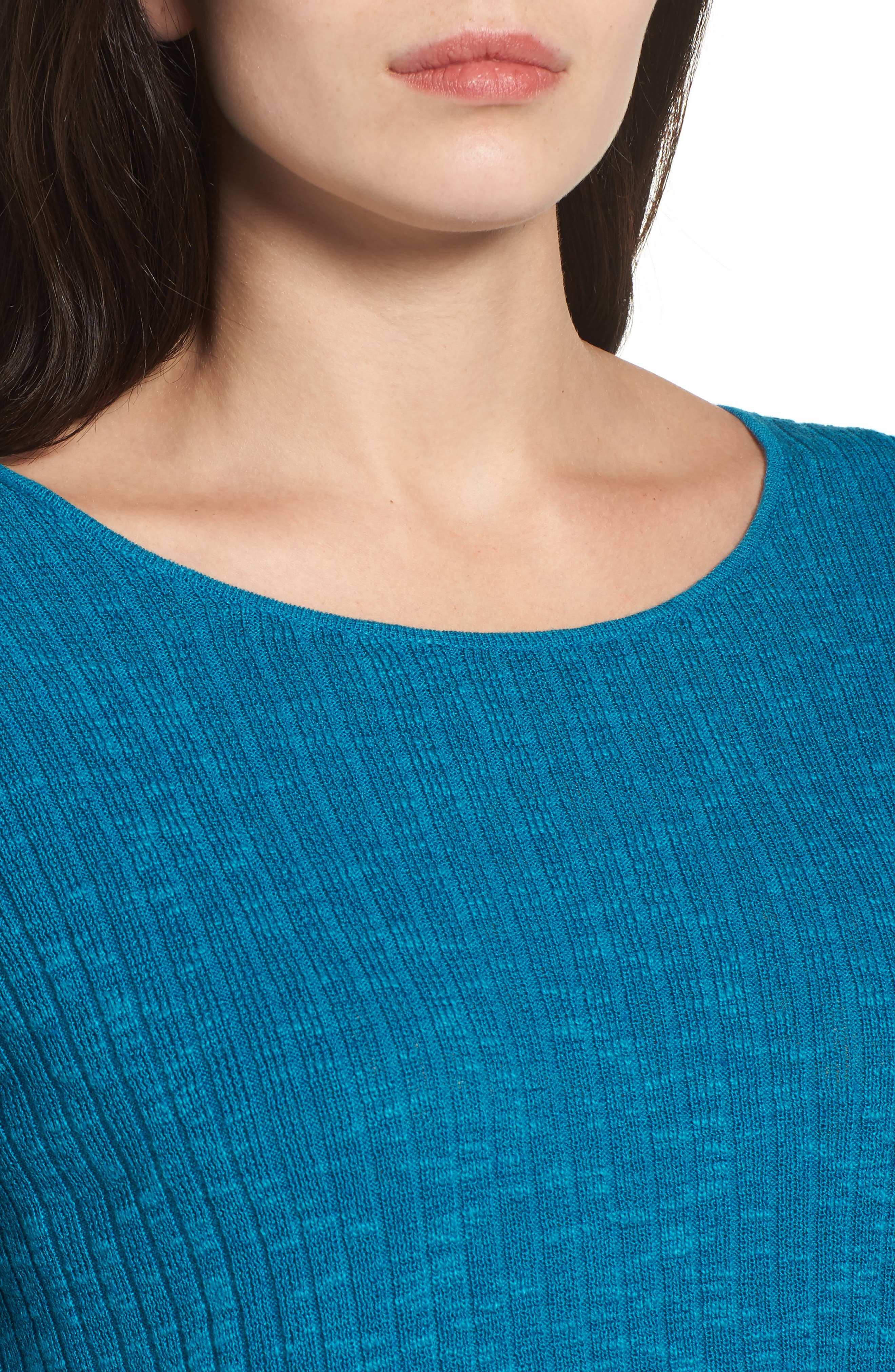 Alternate Image 4  - Eileen Fisher Ribbed Organic Linen & Cotton Sweater