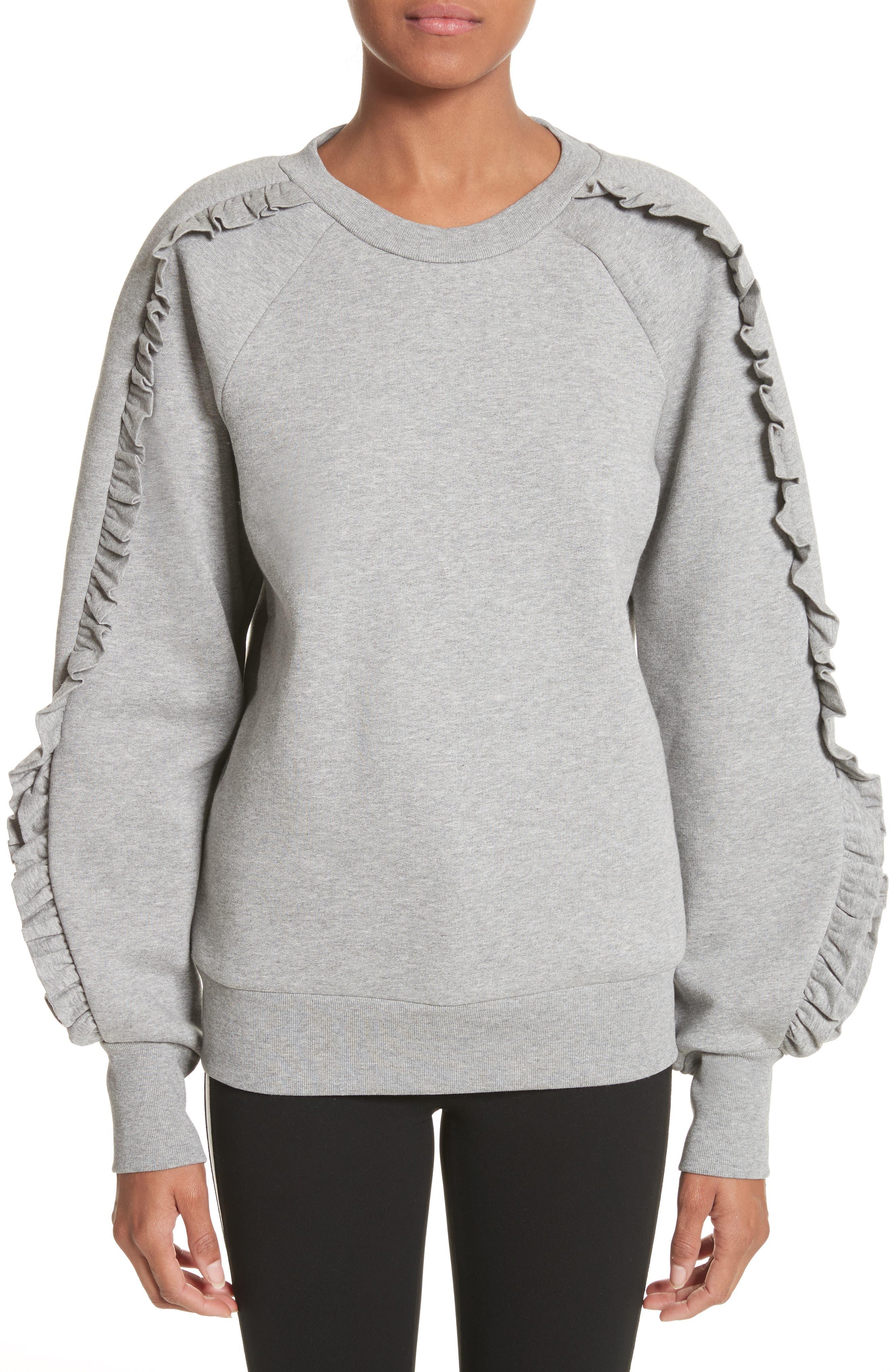 Alternate Image 1 Selected - Burberry Kupa Ruffle Sleeve Sweatshirt