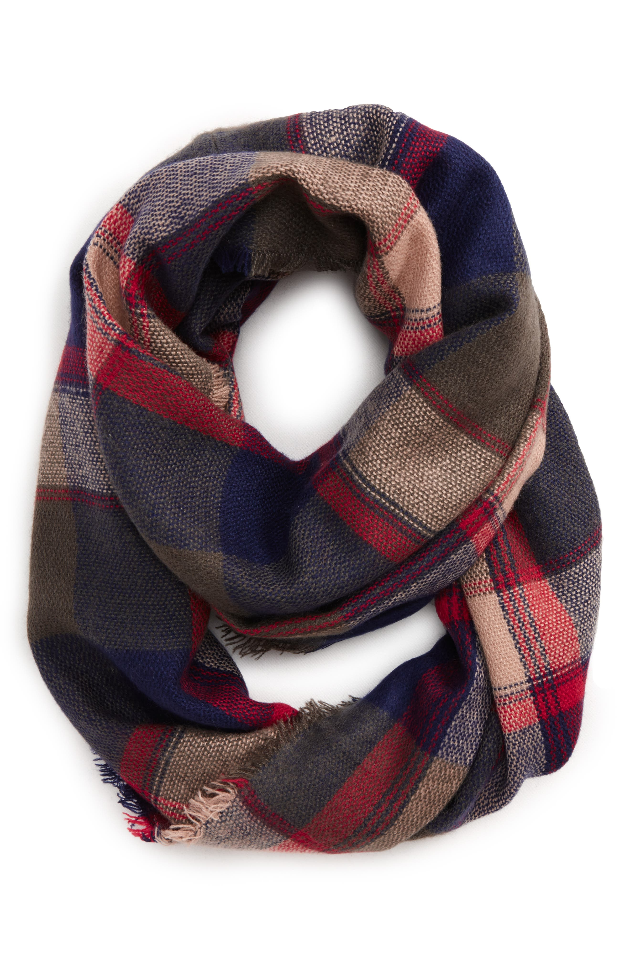 BP. Brushed Plaid Infinity Scarf