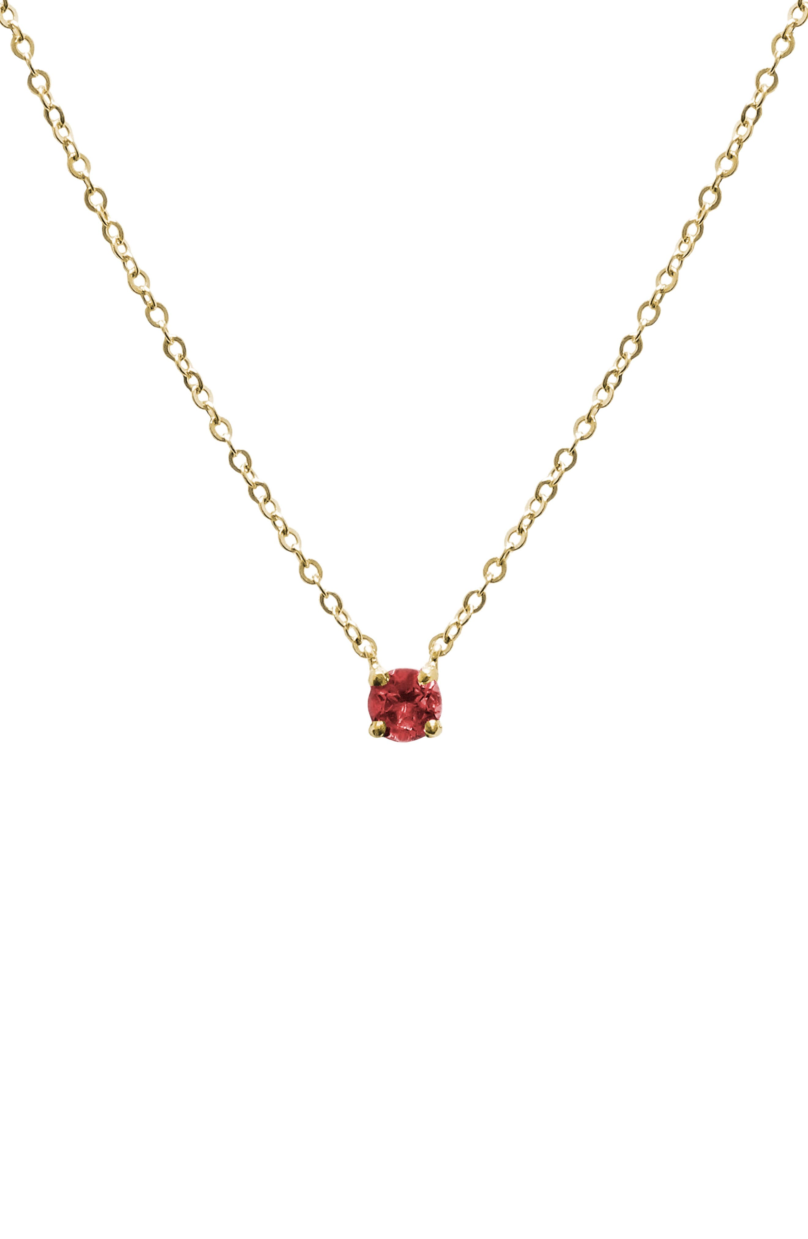 Jane Basch Birthstone Pendant Necklace,                         Main,                         color, Garnet/ January