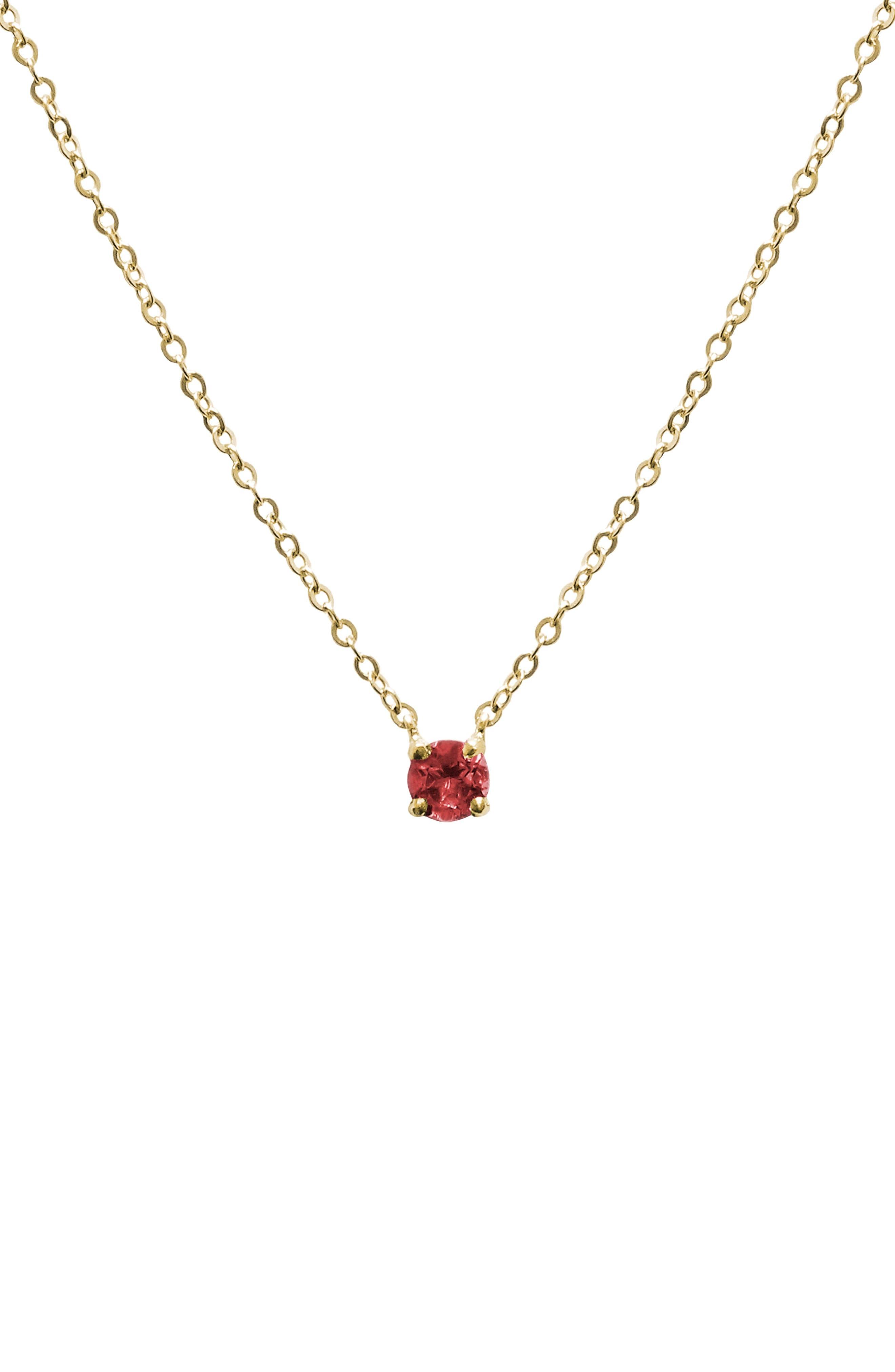 Jane Basch Birthstone Pendant Necklace
