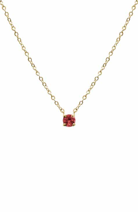 women yellow kid birthstone from heart gold garnet jewelry ip ideal rhodolite set for necklace carats red fine gift gifts ice chain