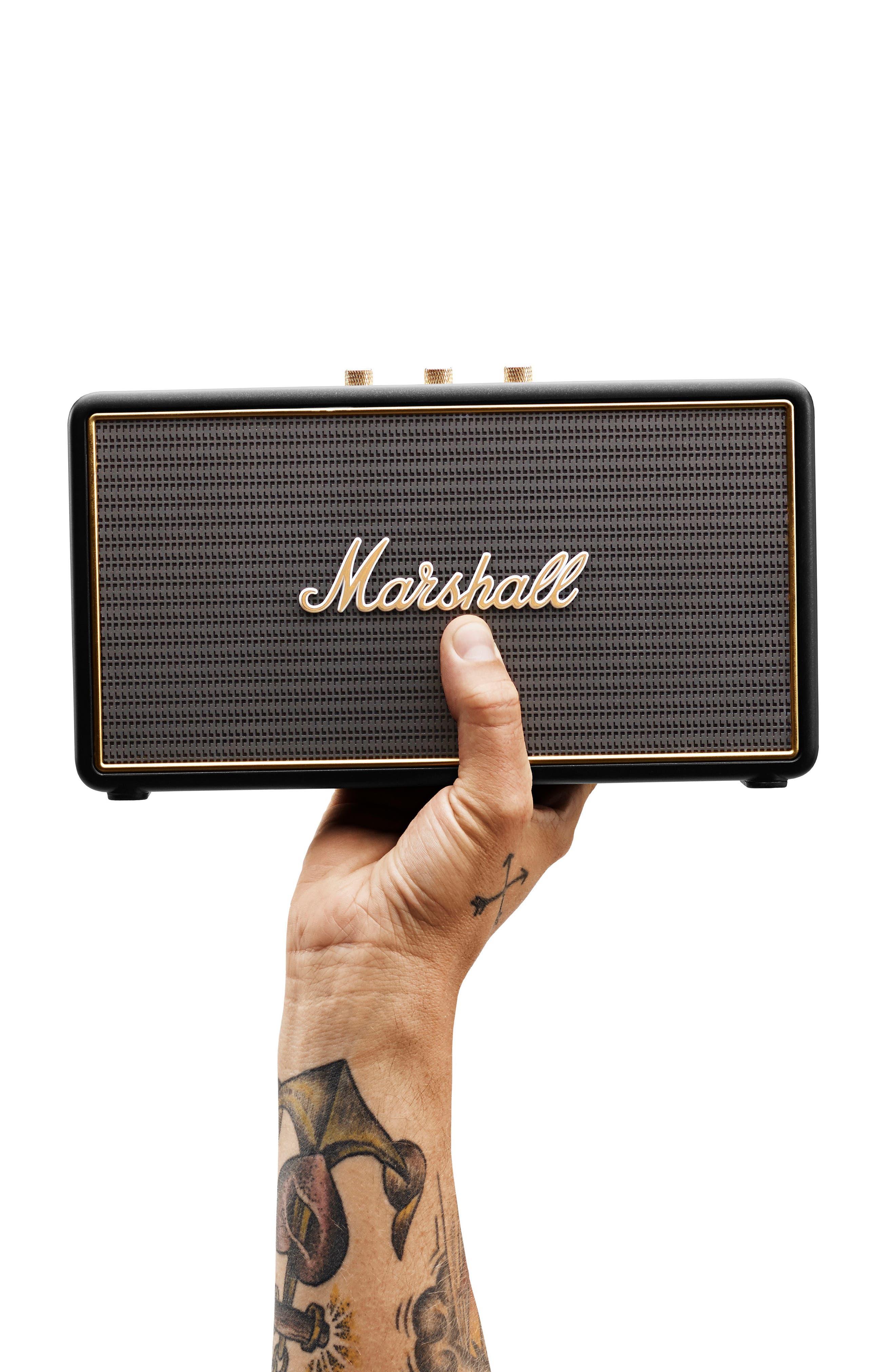 'Stockwell' Bluetooth<sup>®</sup> Speaker,                             Alternate thumbnail 7, color,                             Black