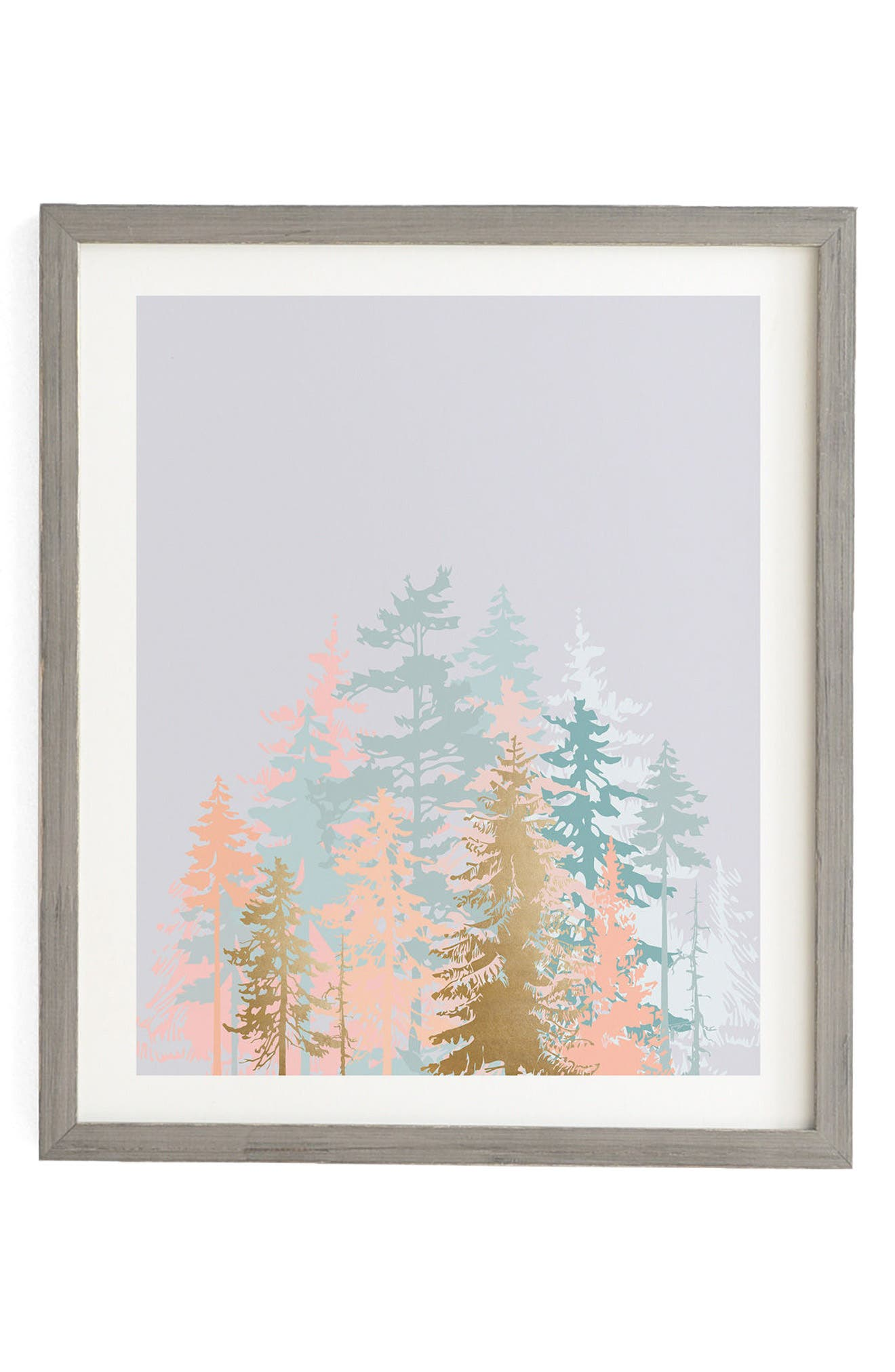 Blush Forest Framed Wall Art,                             Main thumbnail 1, color,                             Blush