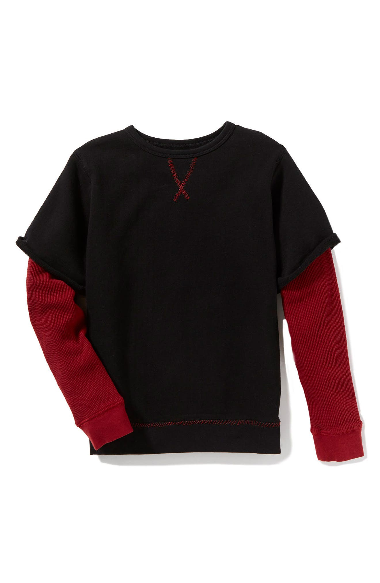 Peek Axel Layer Sweatshirt (Toddler Boys, Little Boys & Big Boys)