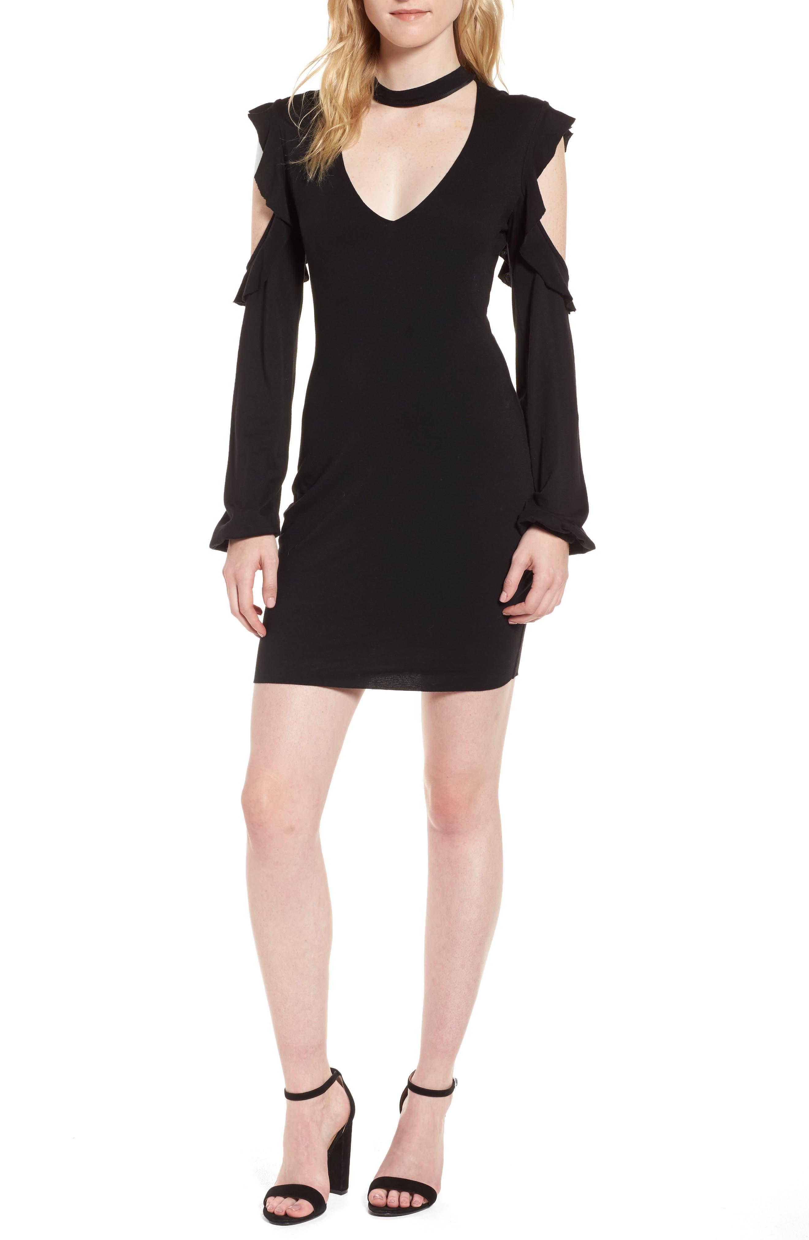 Alternate Image 1 Selected - Pam & Gela Cold Shoulder Sheath Dress
