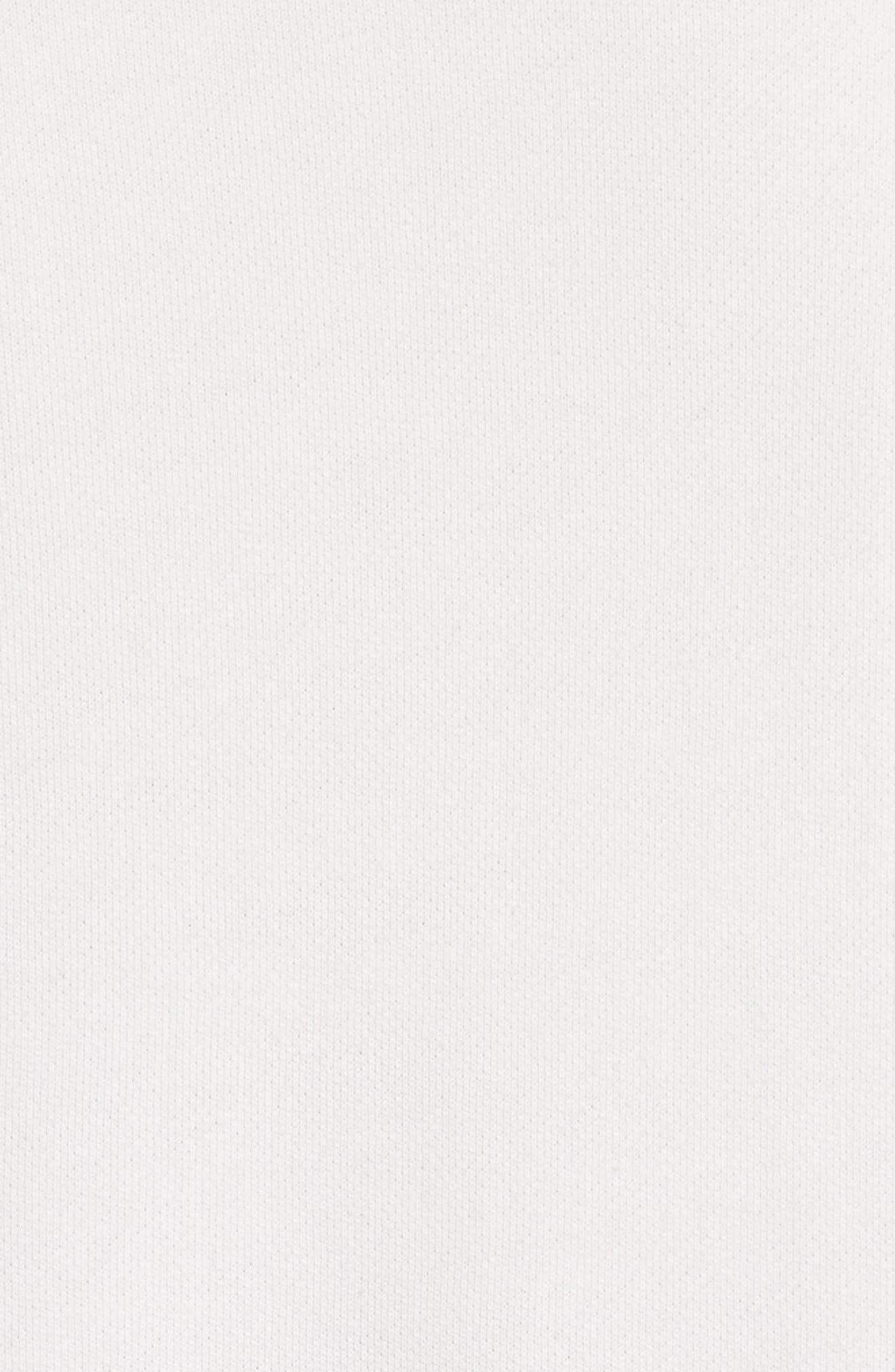 Gussie Colorblock Sweatshirt Dress,                             Alternate thumbnail 5, color,                             Black/ Off White