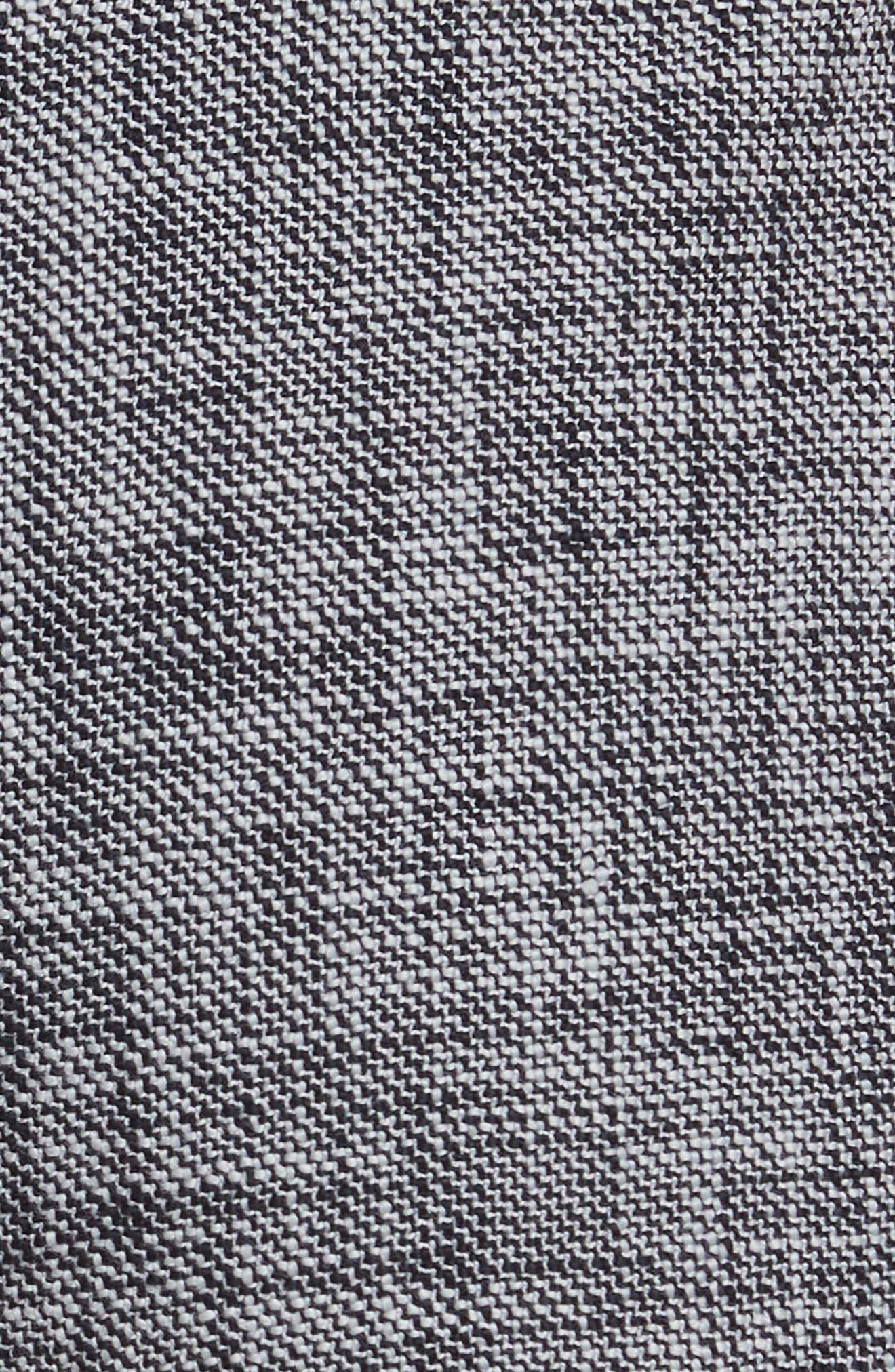 Slub Crop Suit Pants,                             Alternate thumbnail 5, color,                             Grey/ Black Combo