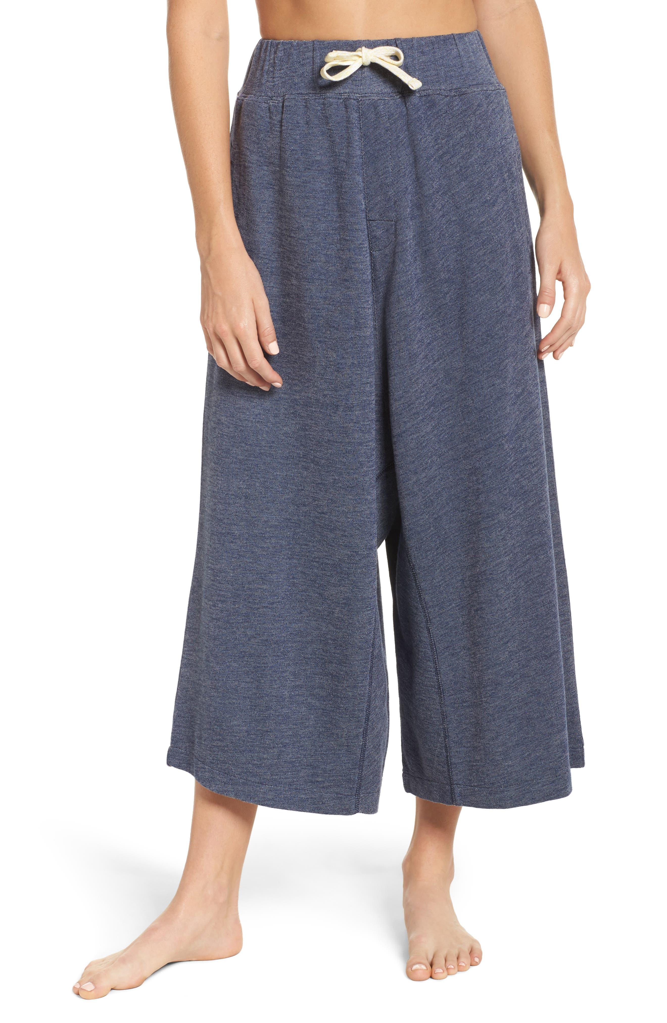 Brit Lounge Pants,                         Main,                         color, Plain Navy Marle