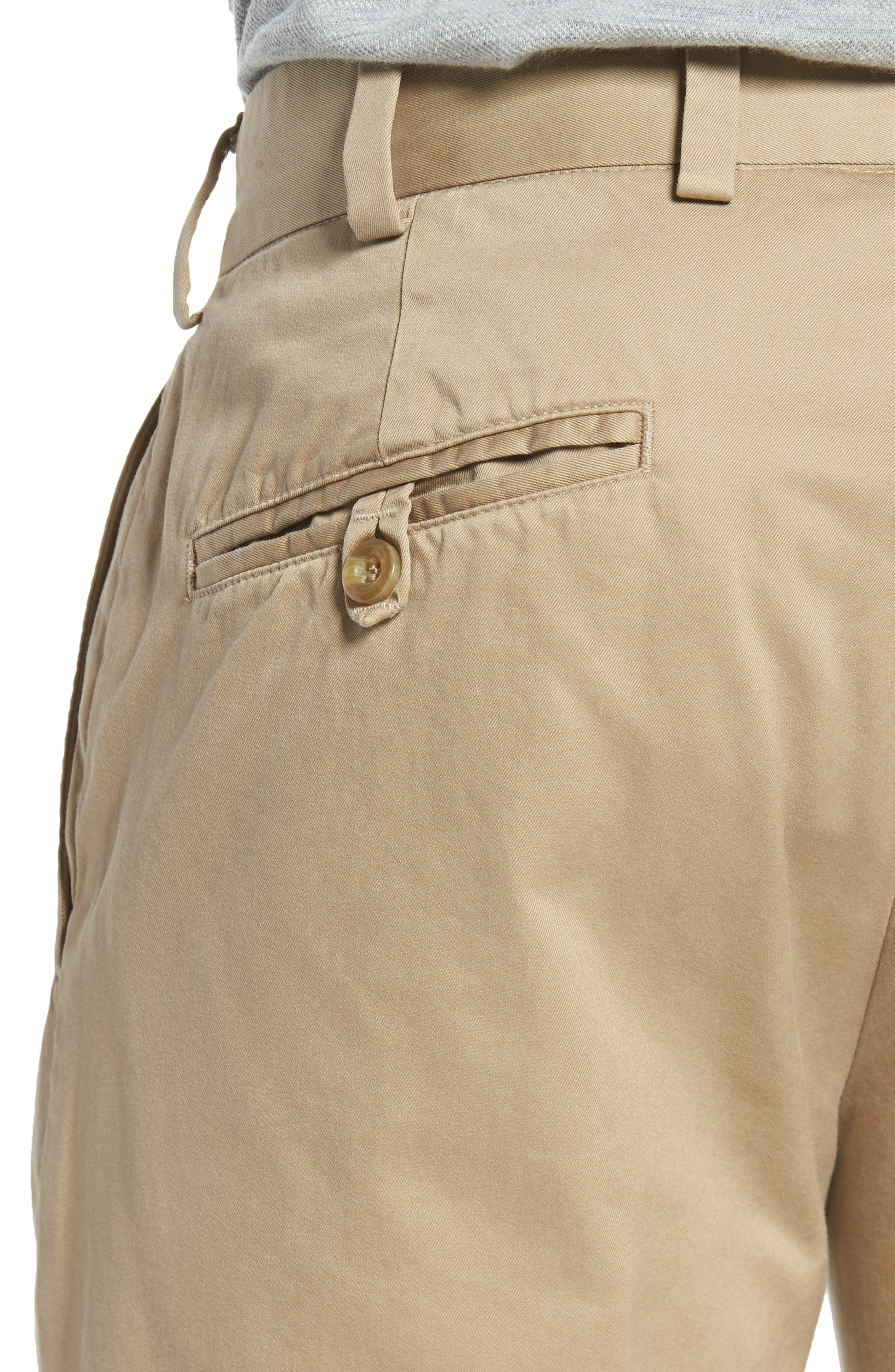 Slim Fit Chamois Cloth Pants,                             Alternate thumbnail 4, color,                             Camel