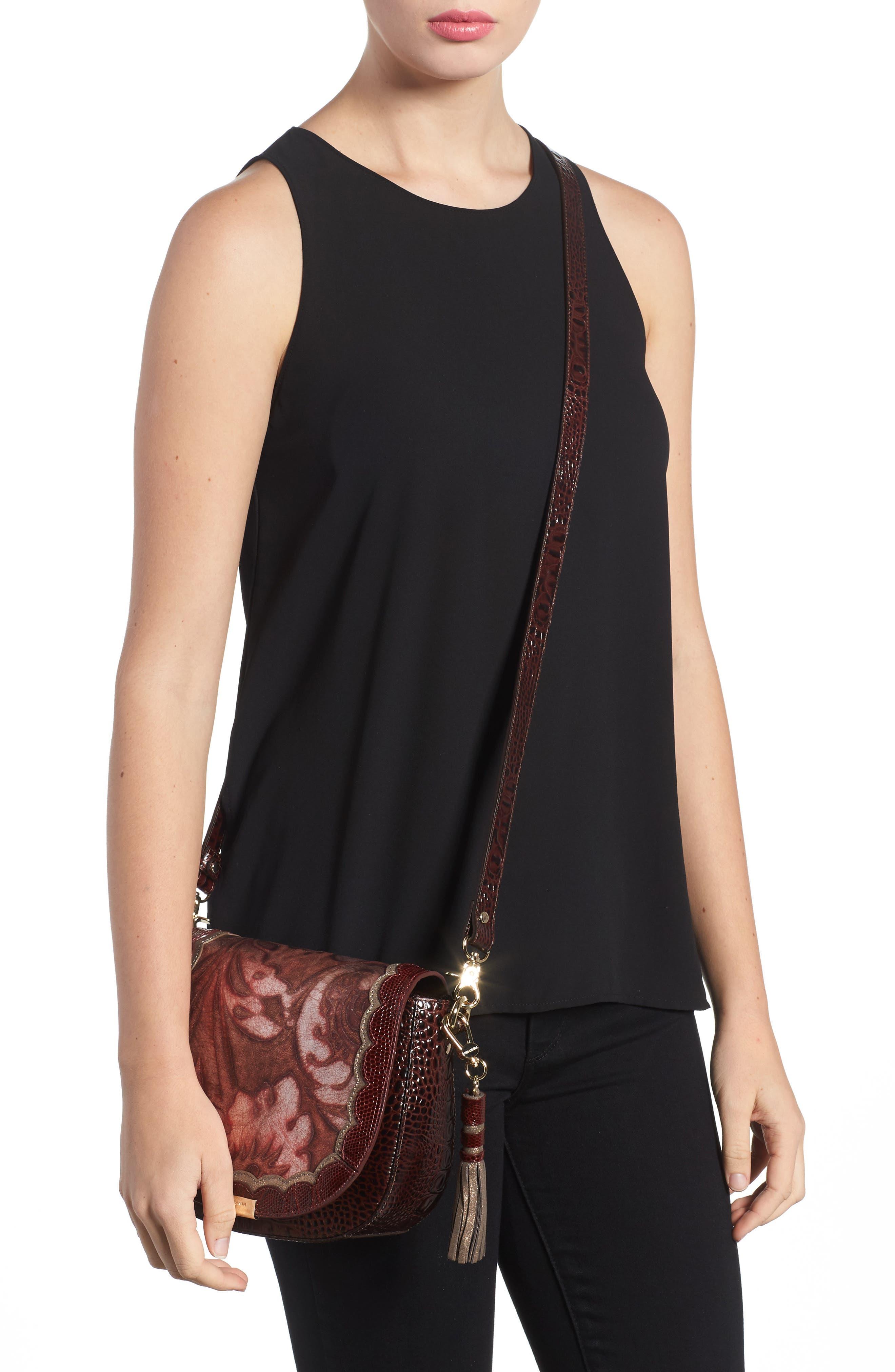 Verona Mini Sonny Leather Crossbody Bag,                             Alternate thumbnail 2, color,                             Red