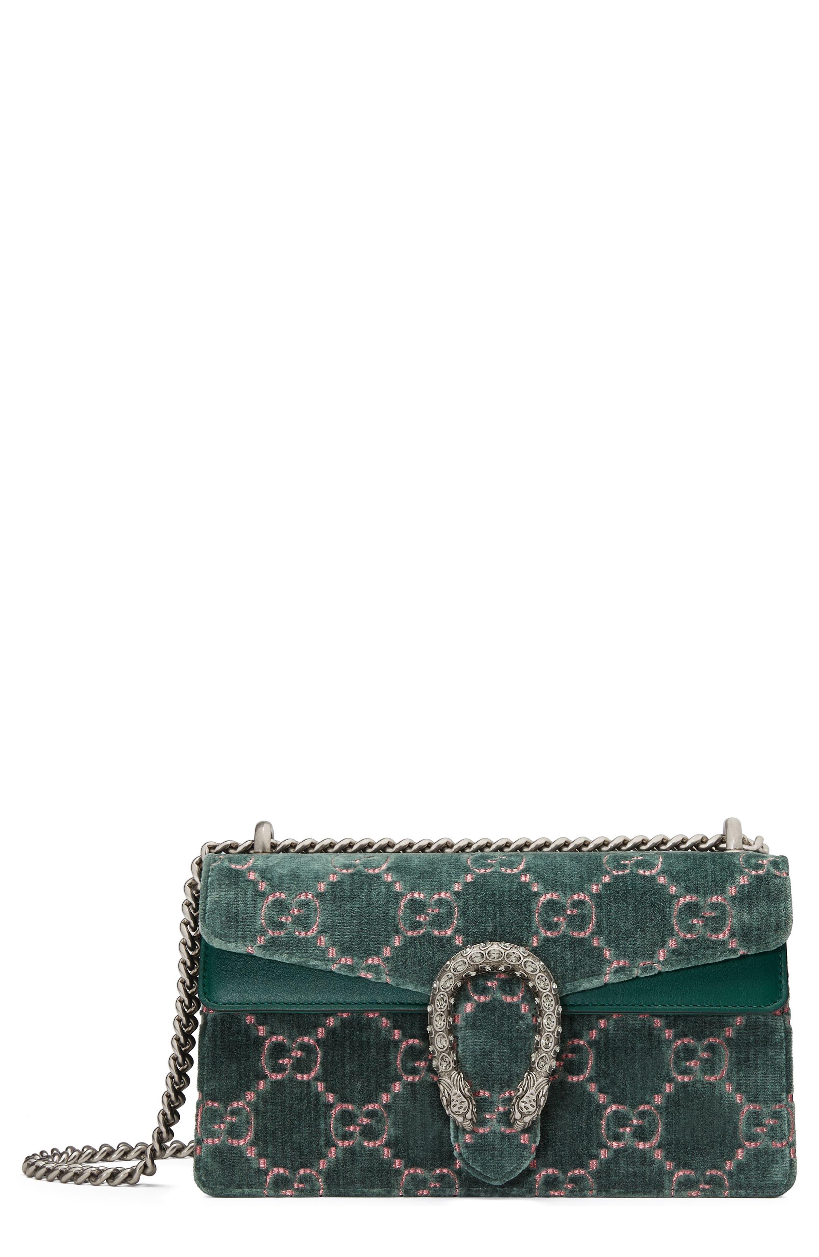 Alternate Image 1 Selected - Gucci Small Dionysus GG Velvet Shoulder Bag