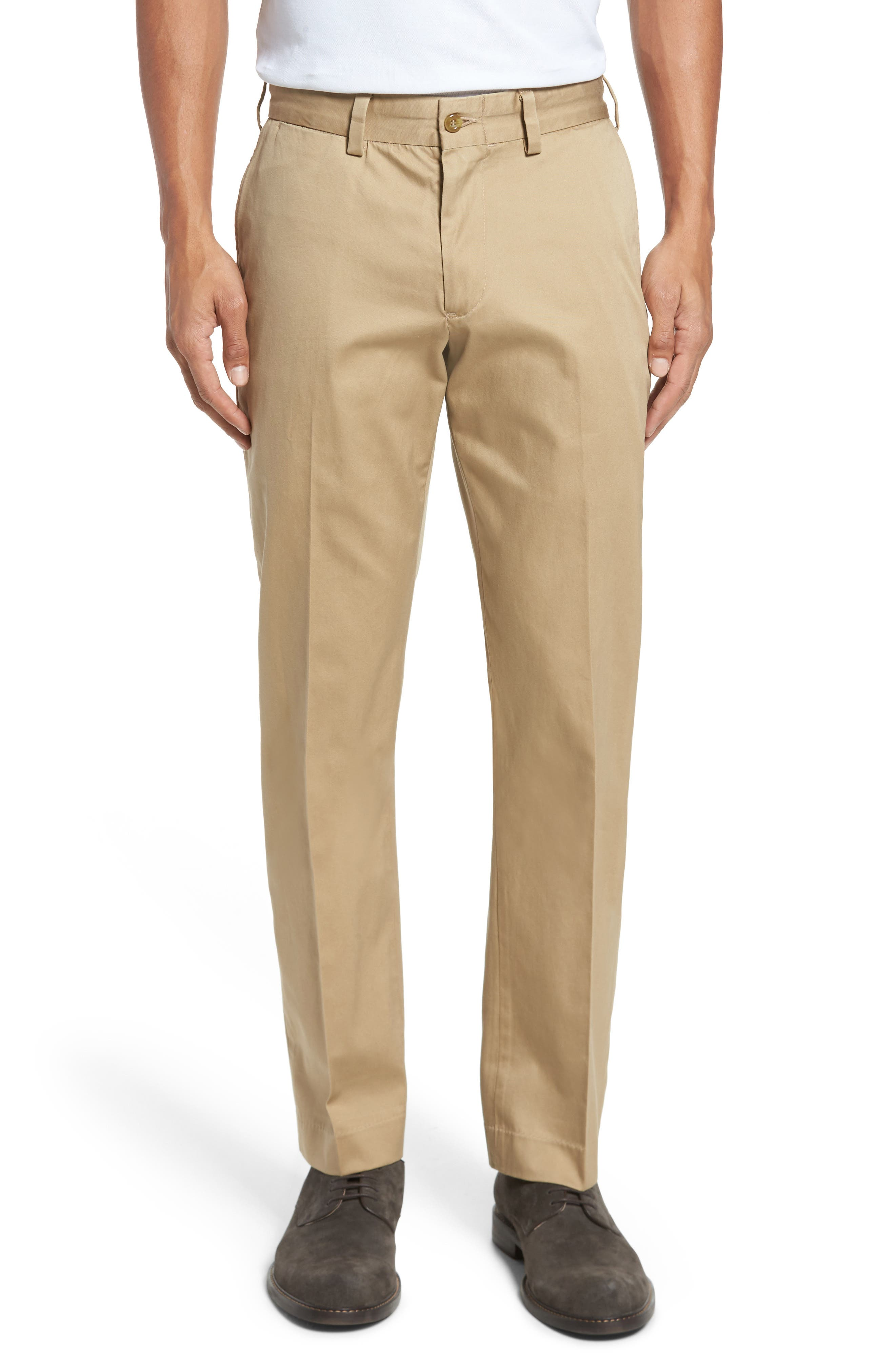Straight Fit Chamois Cloth Pants,                         Main,                         color, Camel
