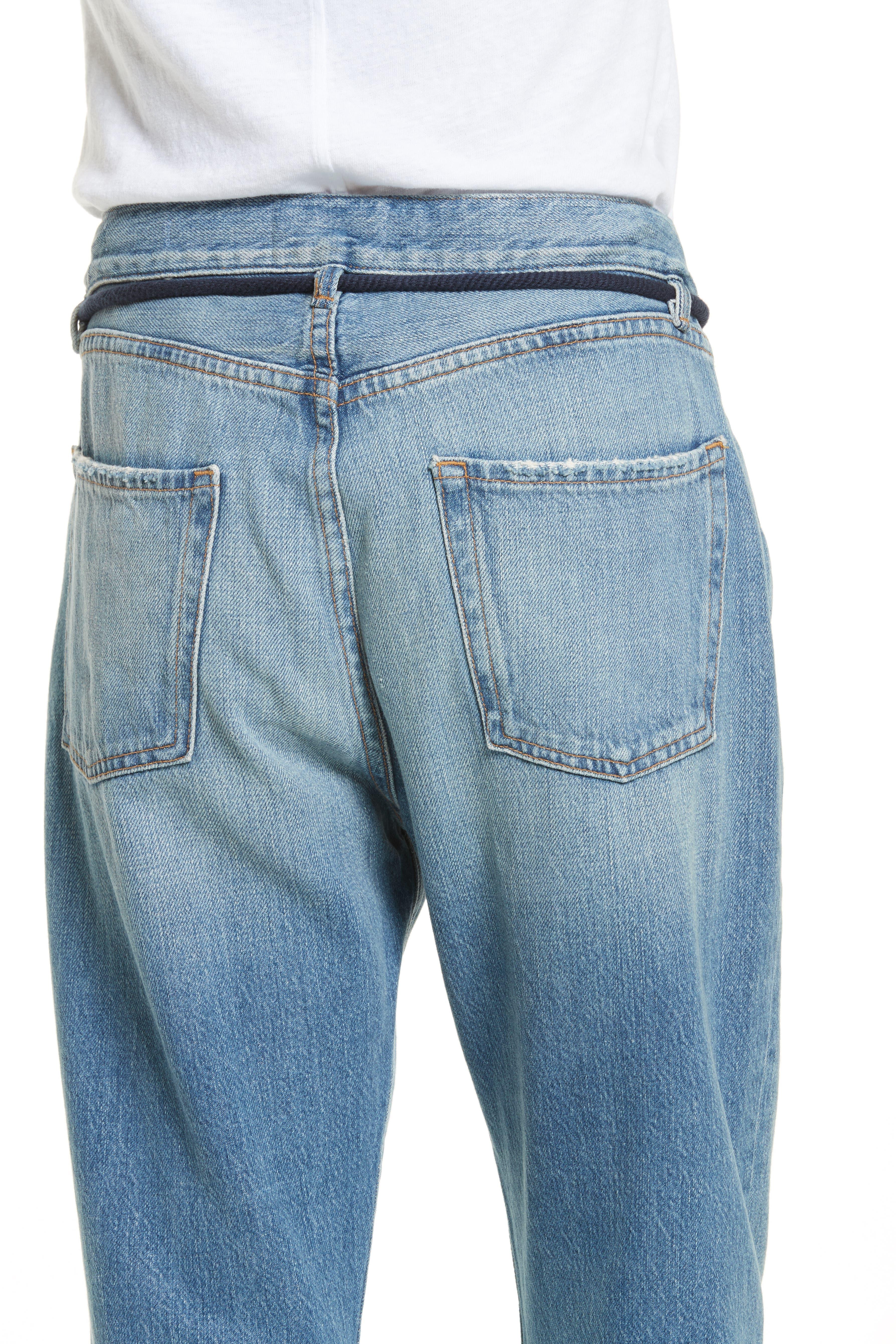 Le Original Tassel Tie High Waist Jeans,                             Alternate thumbnail 8, color,                             Bowman
