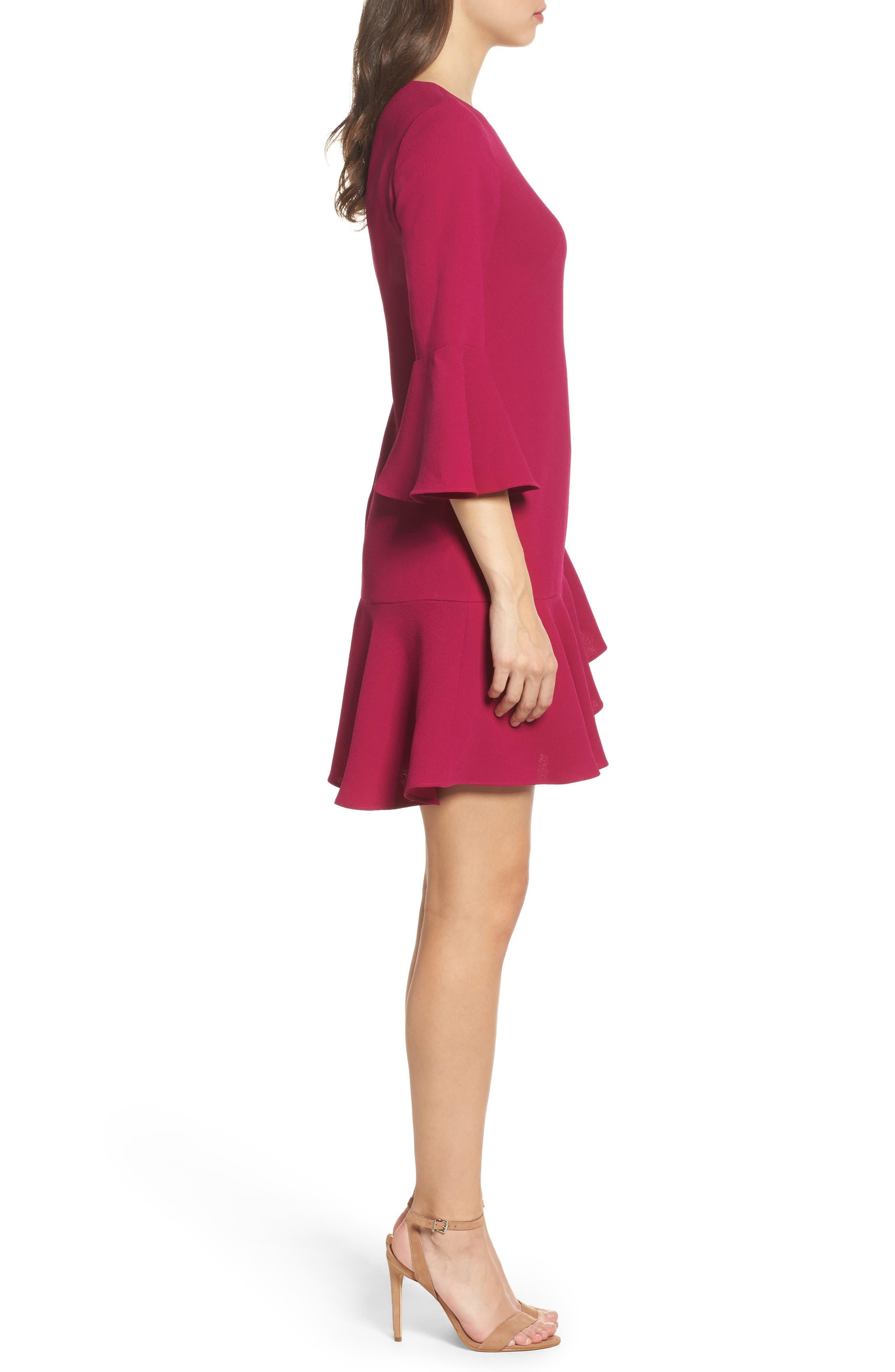 Alternate Image 3  - Eliza J Bell Sleeve Fit & Flare Dress