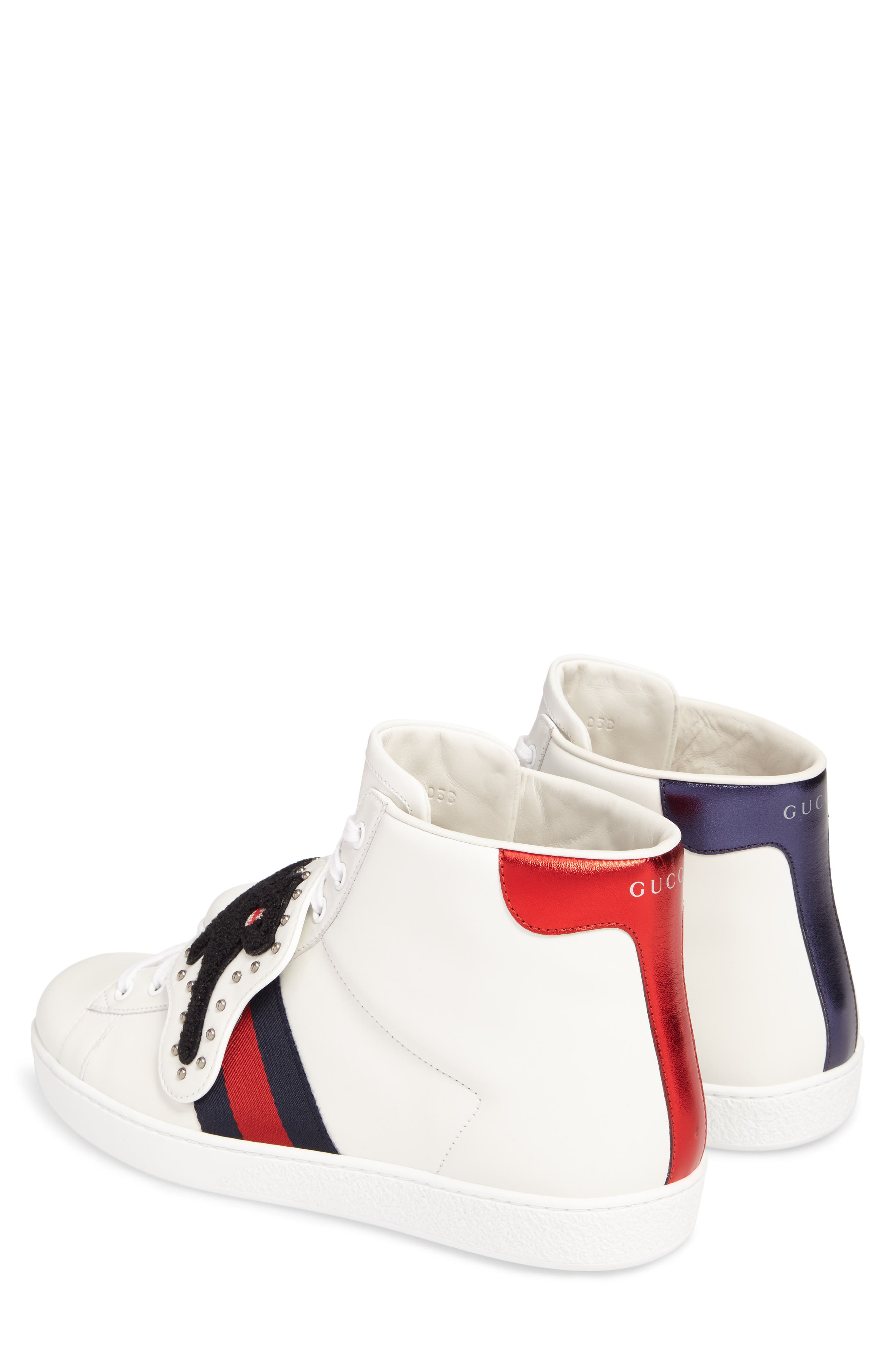 Alternate Image 2  - Gucci New Ace Hi Panther Sneaker (Men)