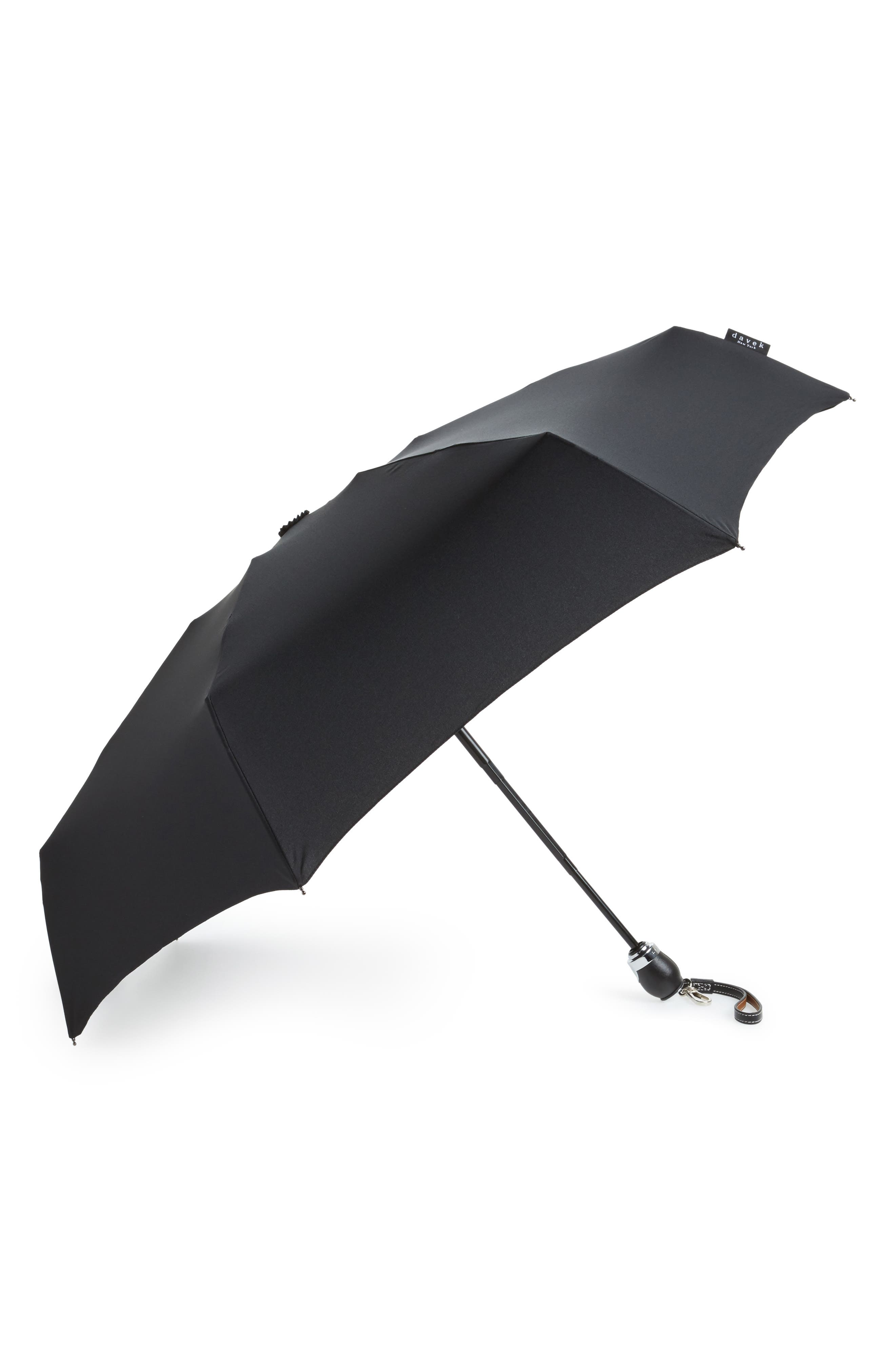 DAVEK Traveler Umbrella - Black in Classic Black