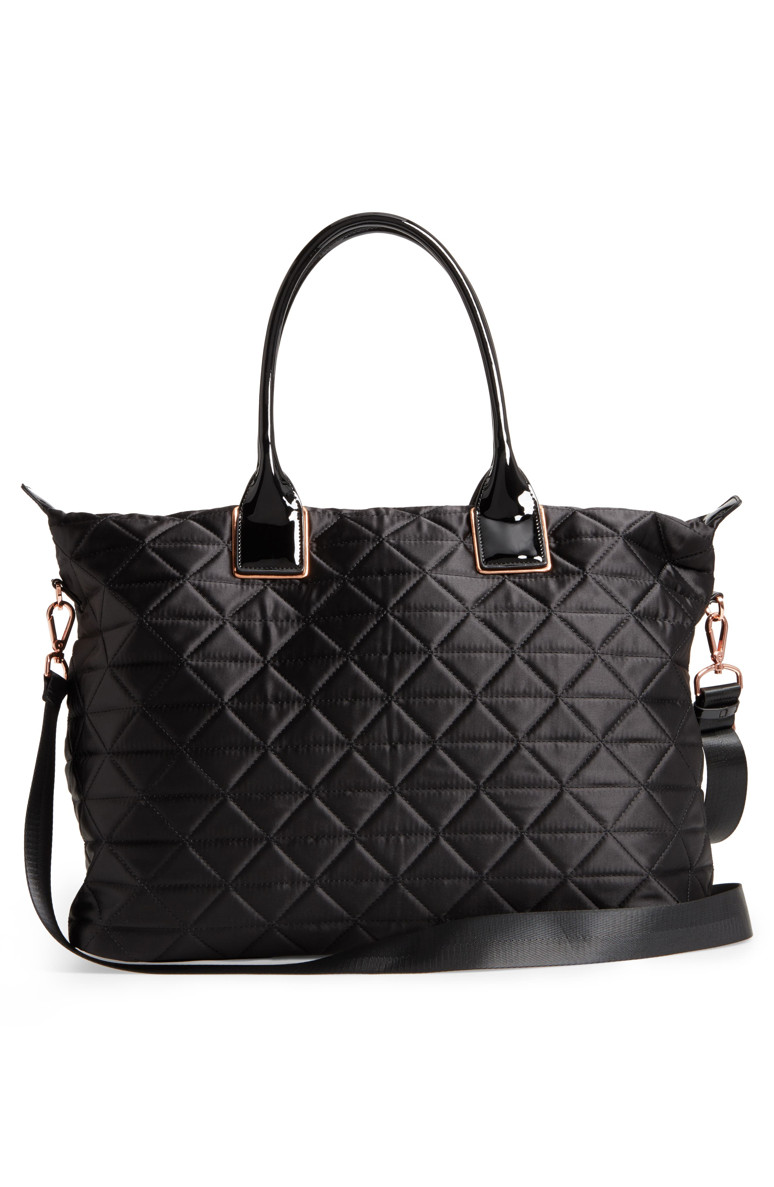 Large Hilksi Quilted Tote,                             Alternate thumbnail 2, color,                             Black