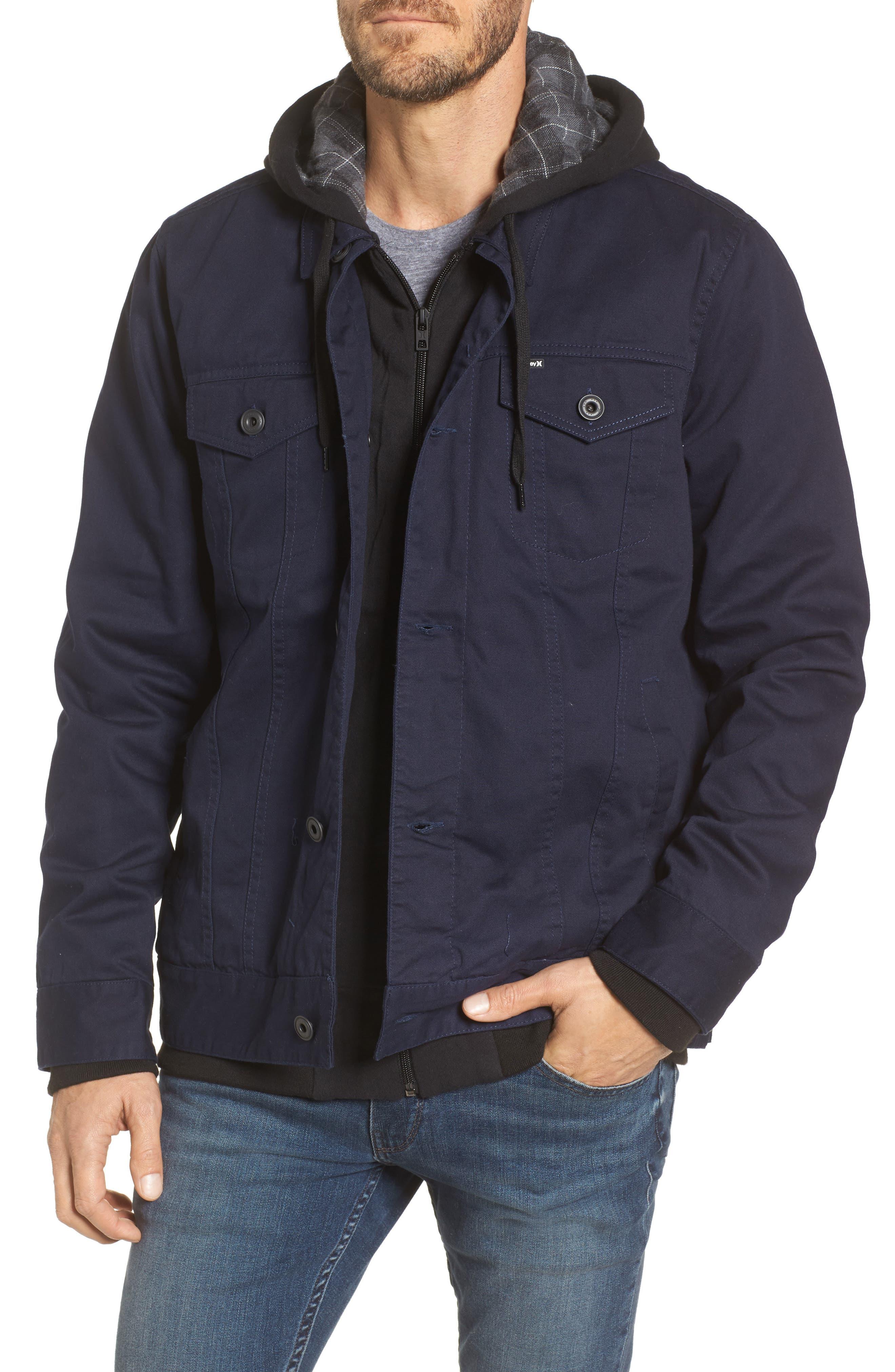 Mac Trucker 3.0 Hooded Jacket,                         Main,                         color, Obsidian