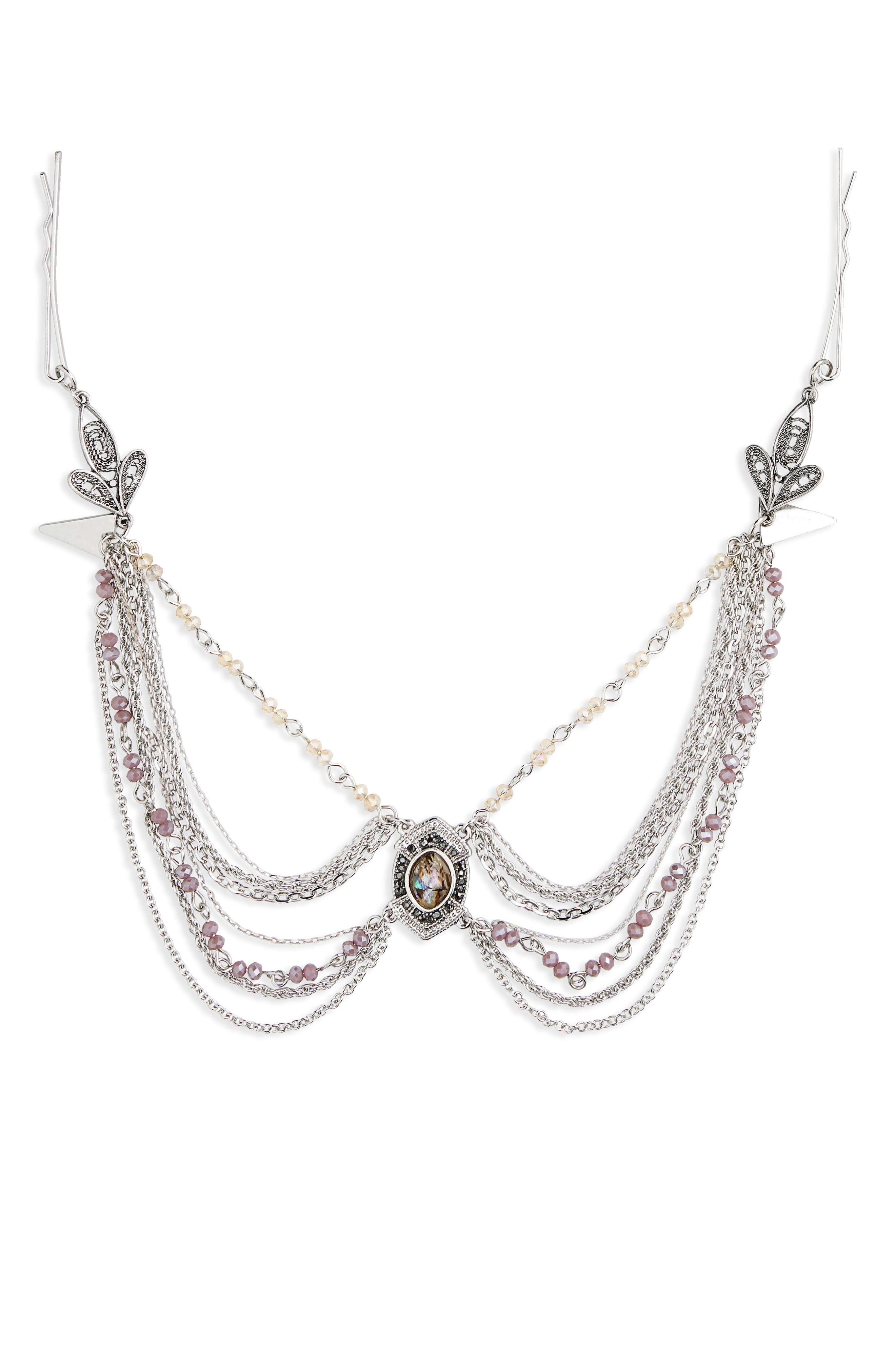 Main Image - Topshop Lily Stone Drop Head Chain