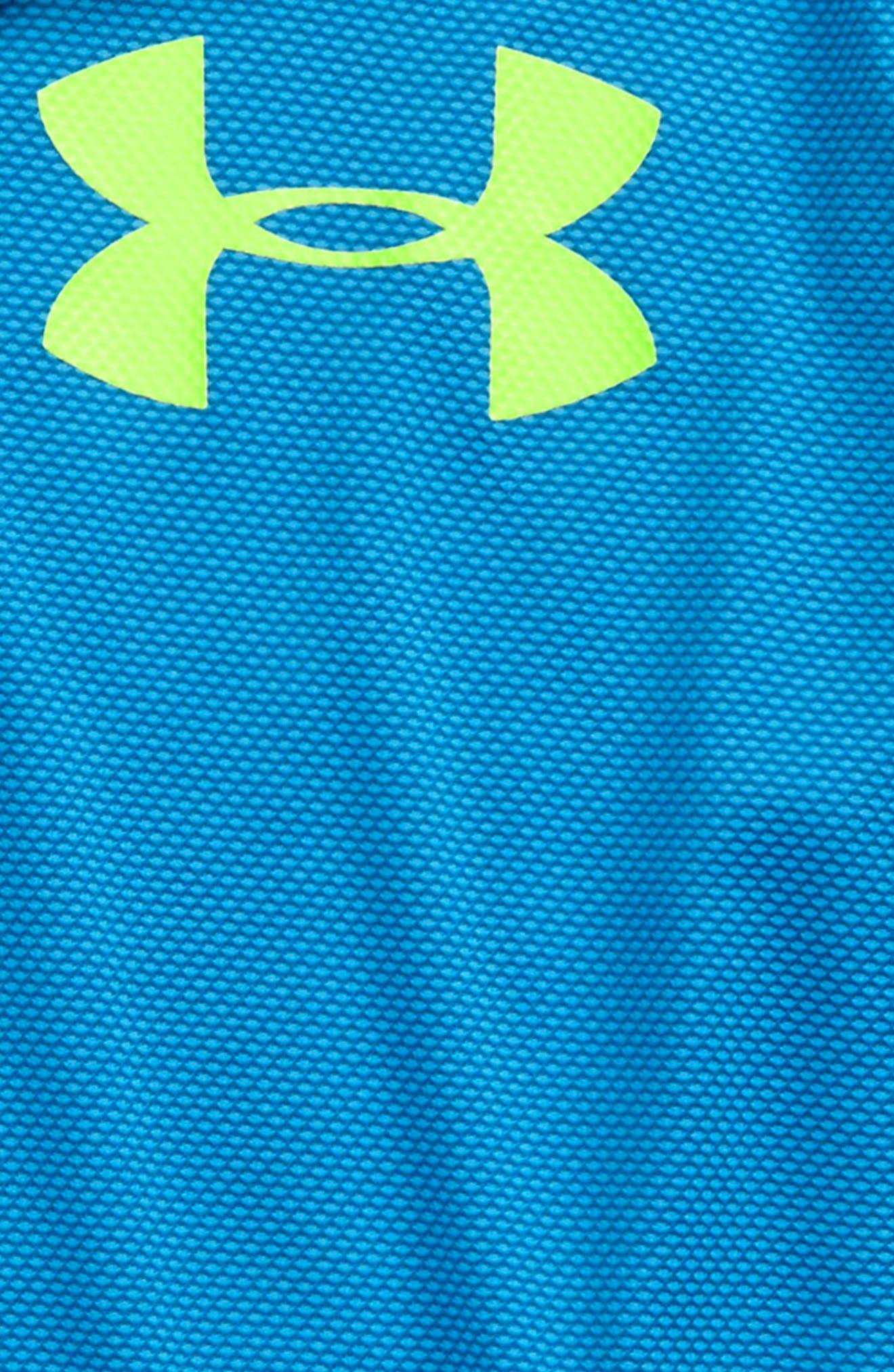 Alternate Image 2  - Under Armour Textured Quarter Zip Top (Little Boys & Big Boys)