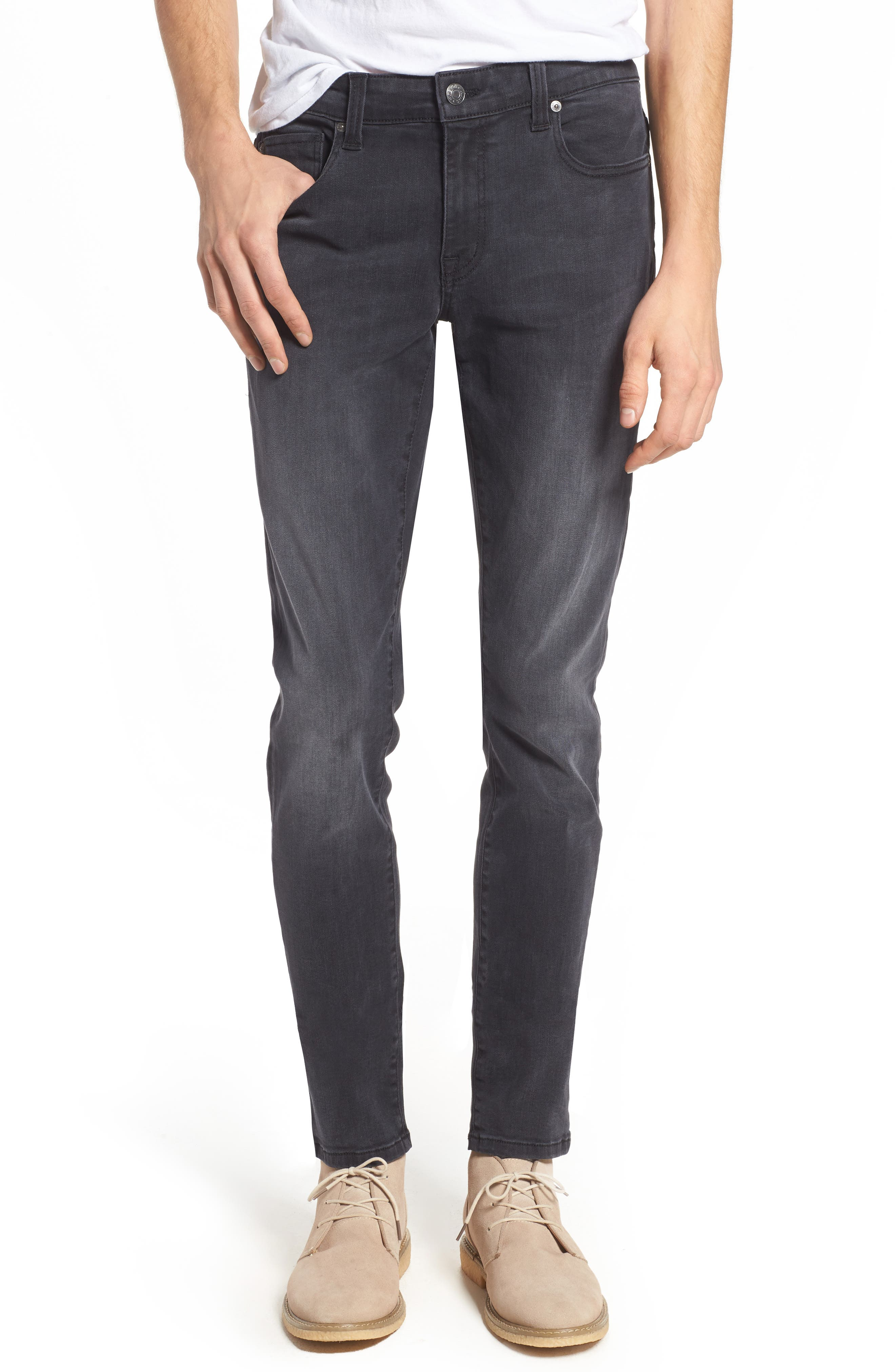 Vantage Skinny Fit Jeans,                             Main thumbnail 1, color,                             Wolf Grey