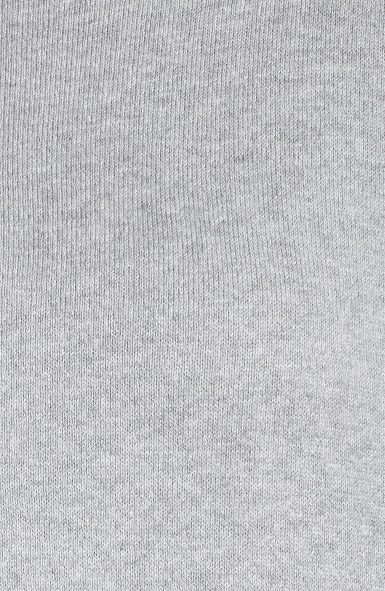 Relaxed Cotton & Cashmere Sweater,                             Alternate thumbnail 5, color,                             Grey Heather