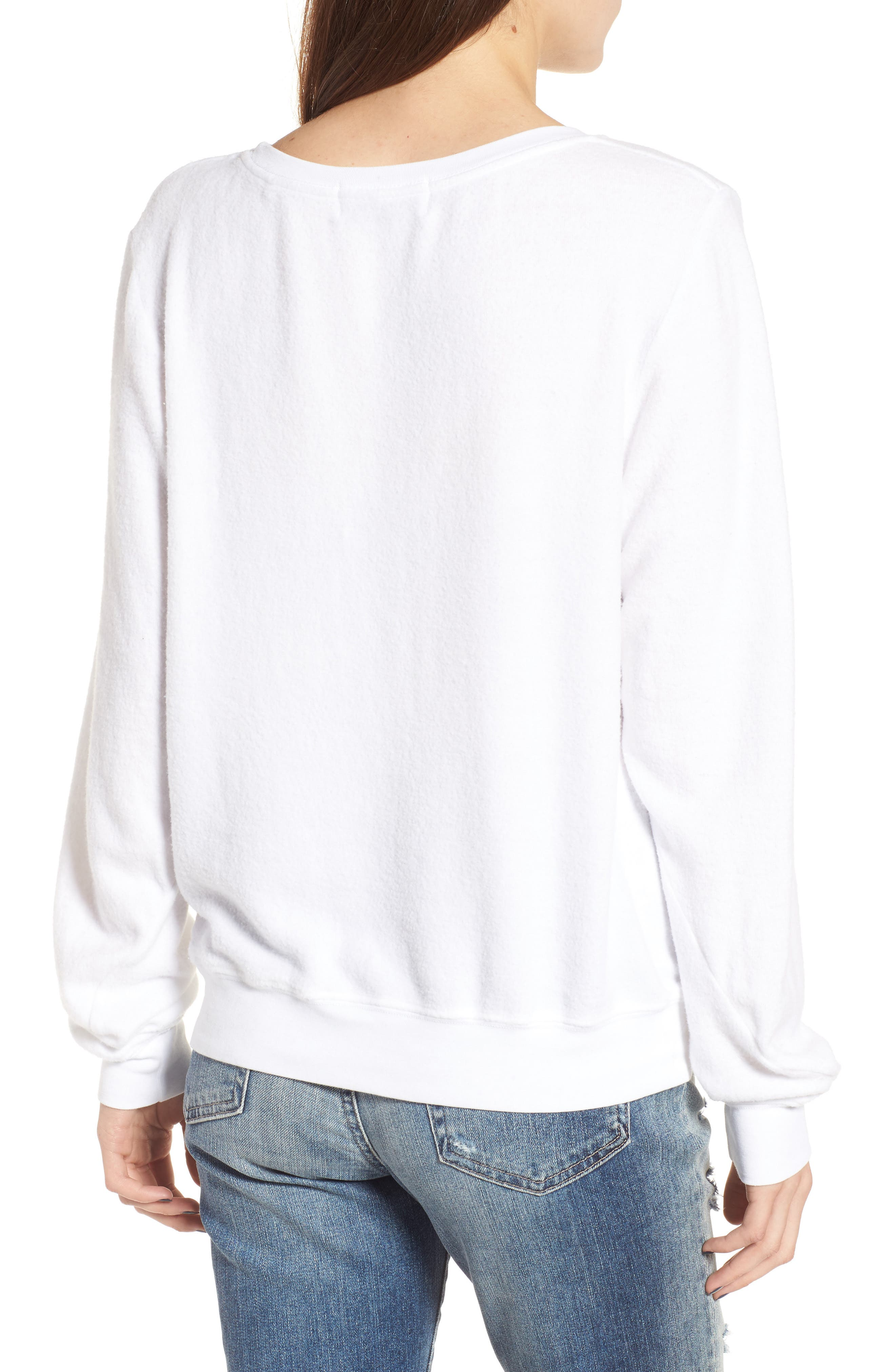 Beverly Hills Sweatshirt,                             Alternate thumbnail 2, color,                             Clean White