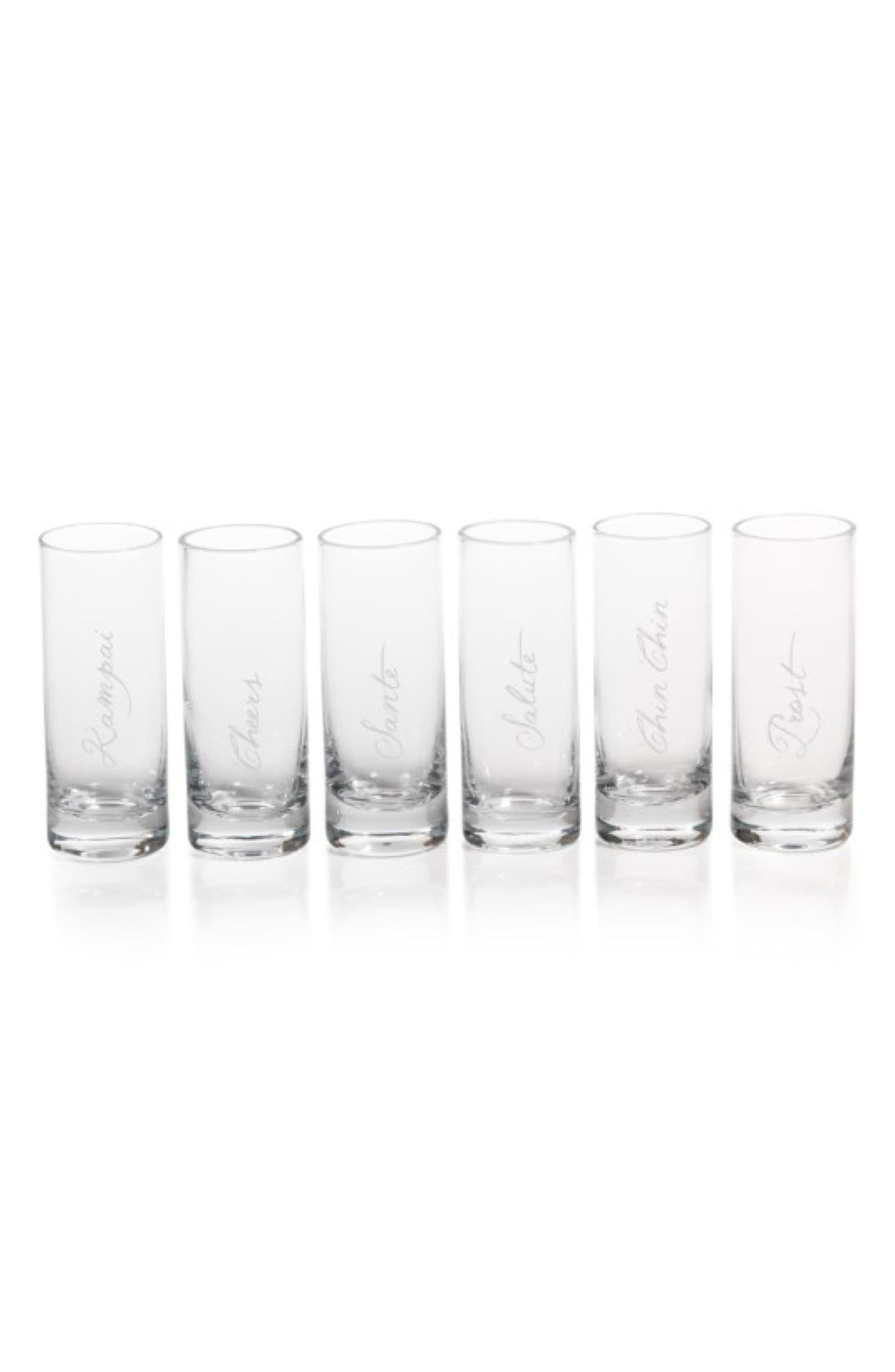 Tula Celebration Set of 6 Shot Glasses,                             Main thumbnail 1, color,                             Clear