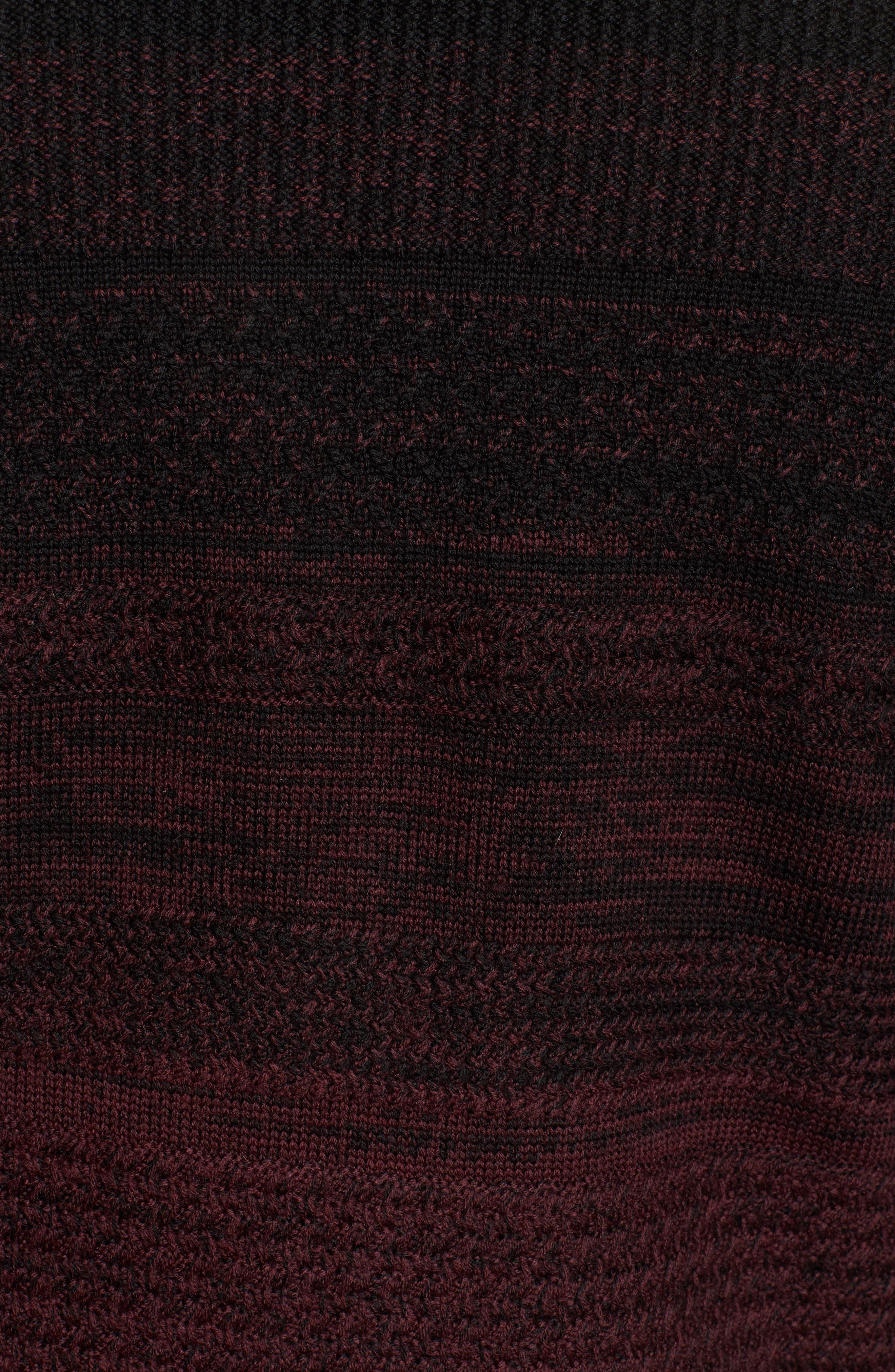 Hawkins Degrade Merino Full Zip Cardigan,                             Alternate thumbnail 5, color,                             Burgundy