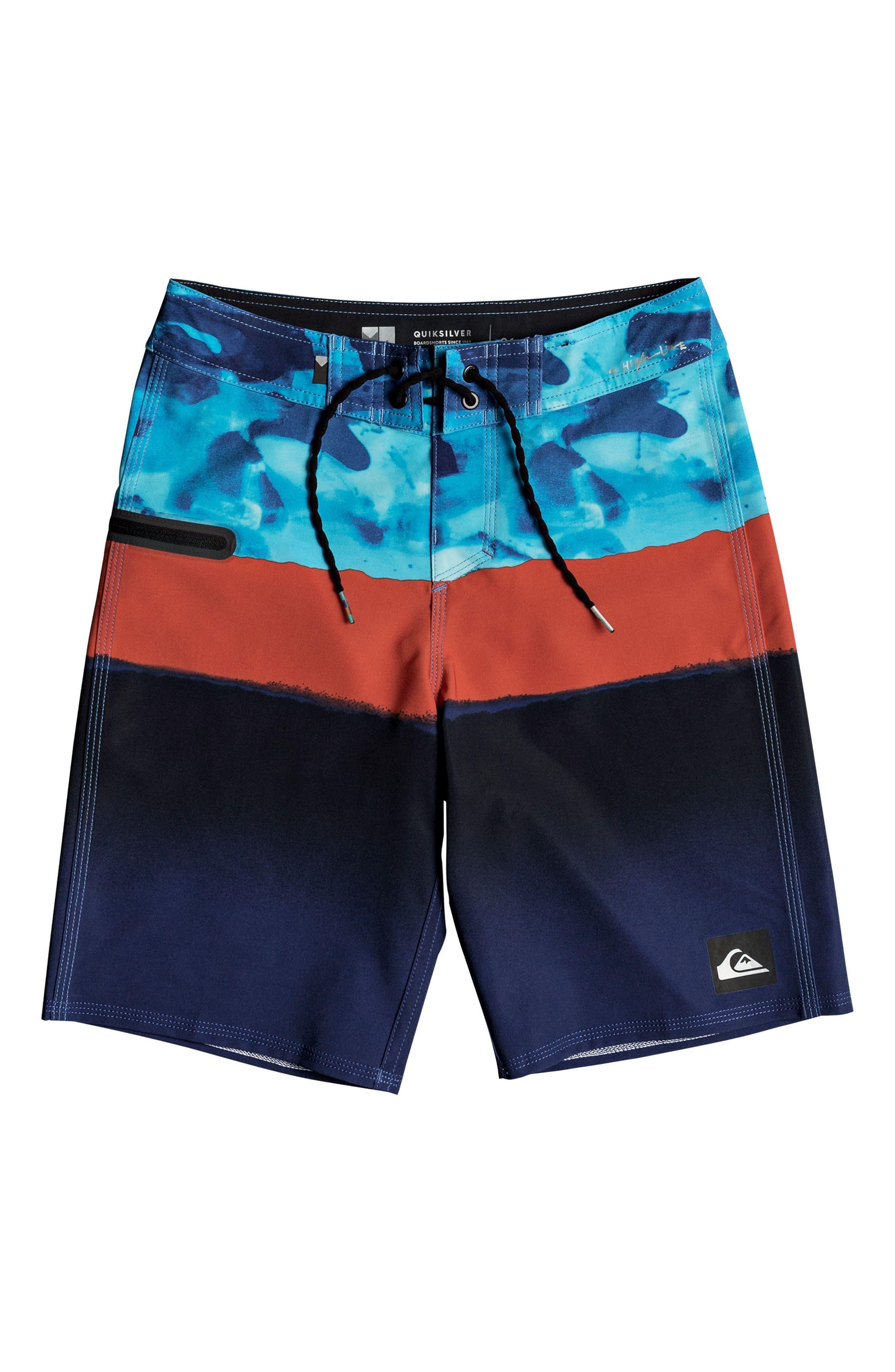 Alternate Image 1 Selected - Quiksilver Blocked Resin Camo Board Shorts (Big Boys)